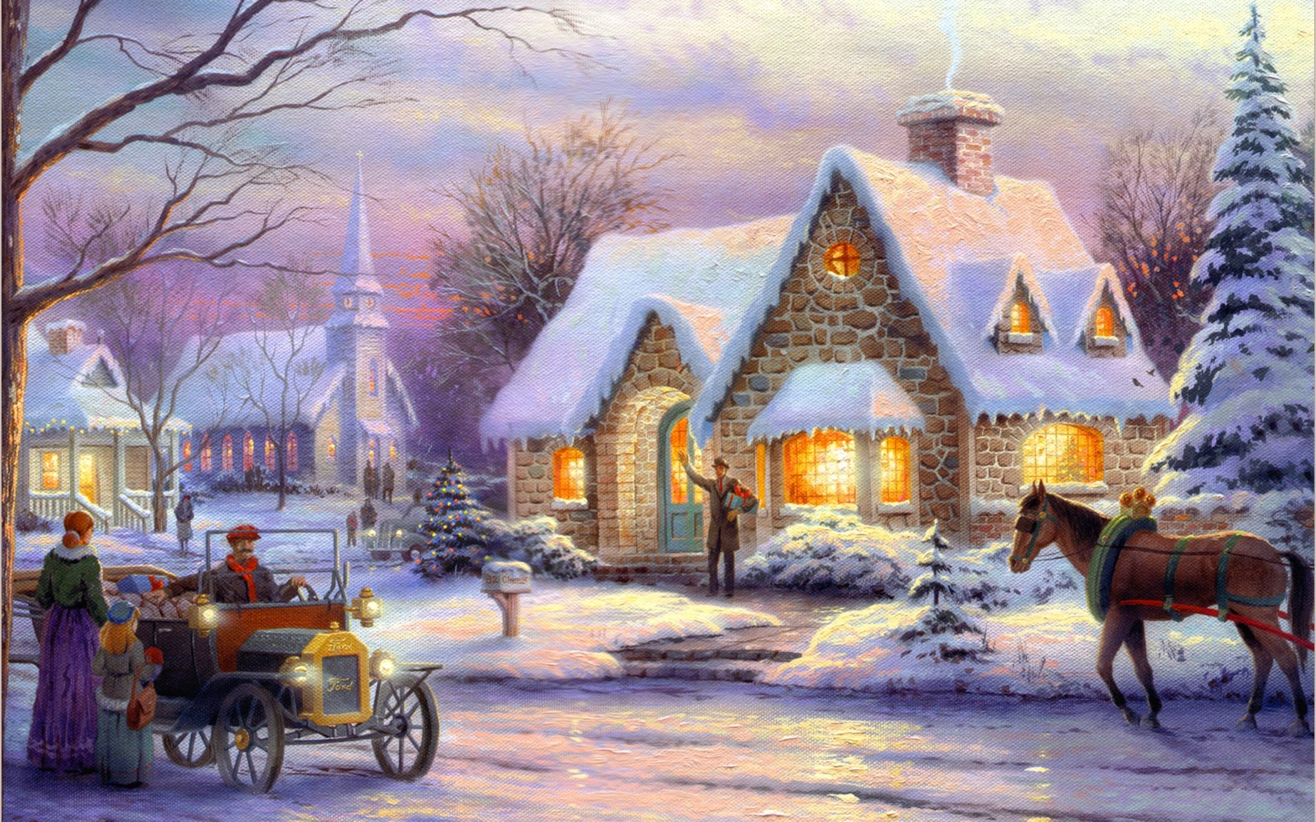 Christmas Village Backgrounds (52+ images)