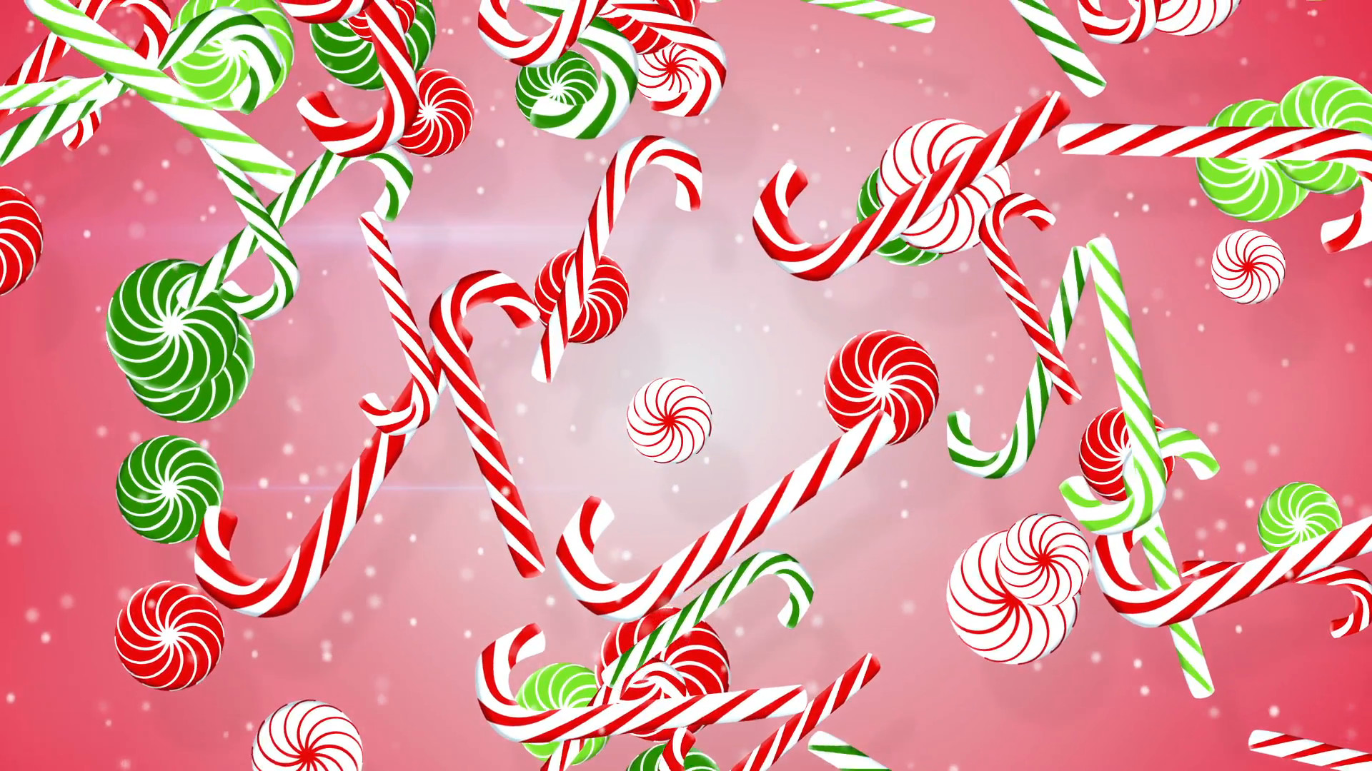 1920x1080 christmas candy canes loopable background Motion Background - VideoBlocks