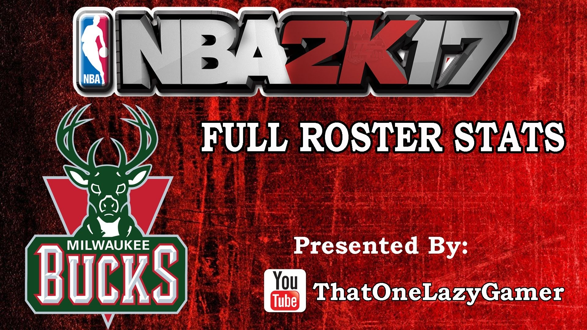 "1920x1080 NBA 2K17 ""Milwaukee Bucks"" Full Roster stats"
