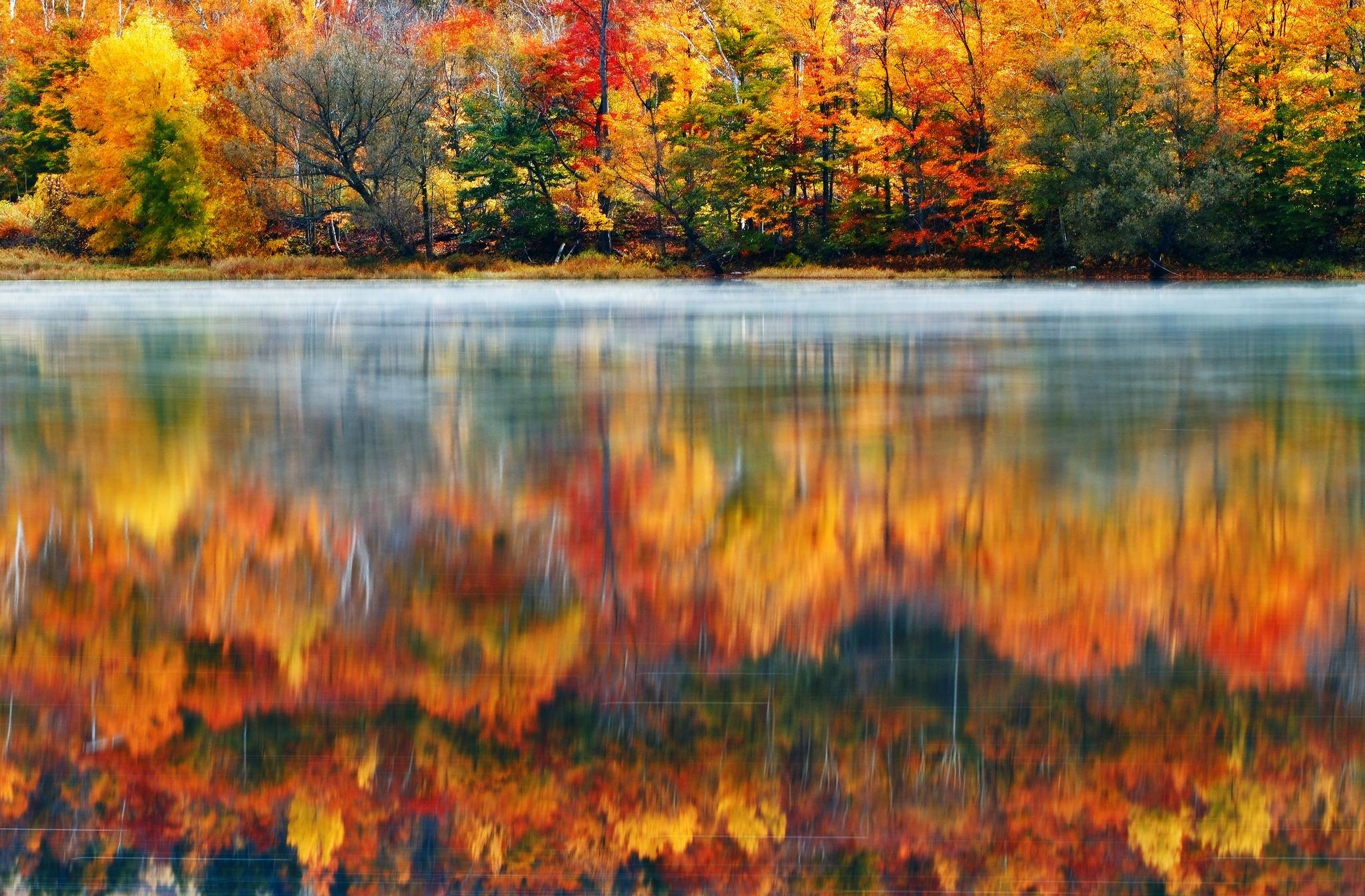 New england fall wallpaper 36 images 2048x1345 wallpaper usa new england new hampshire nature morning lake voltagebd Image collections