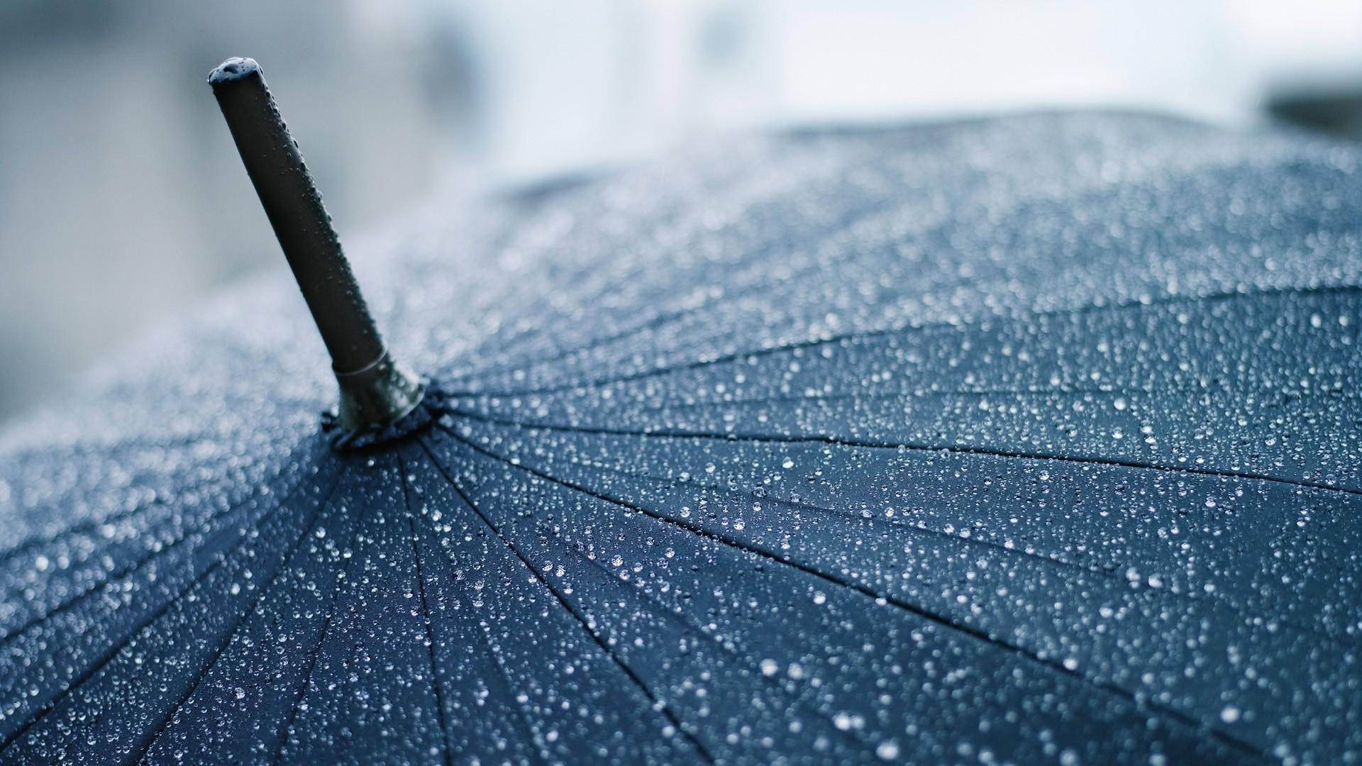 1920x1080 Preview Wallpaper Umbrella Rain Drops Cane Clouds Precipitation