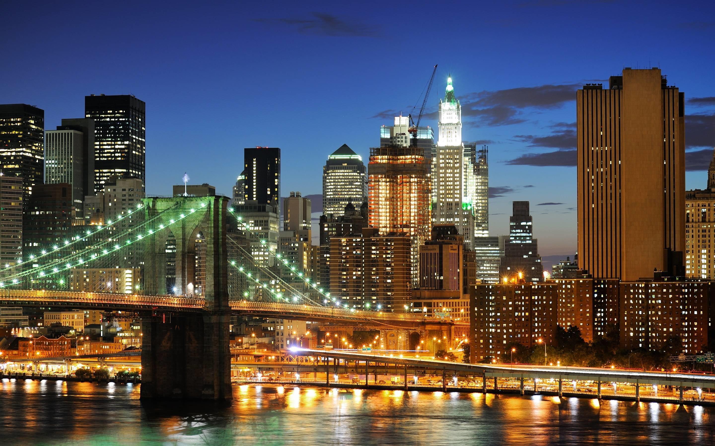 2048x1152 Free New York City Brooklyn Bridge USA America HD Desktop Wallpapers Backgrounds Wall Murals Downloads A1