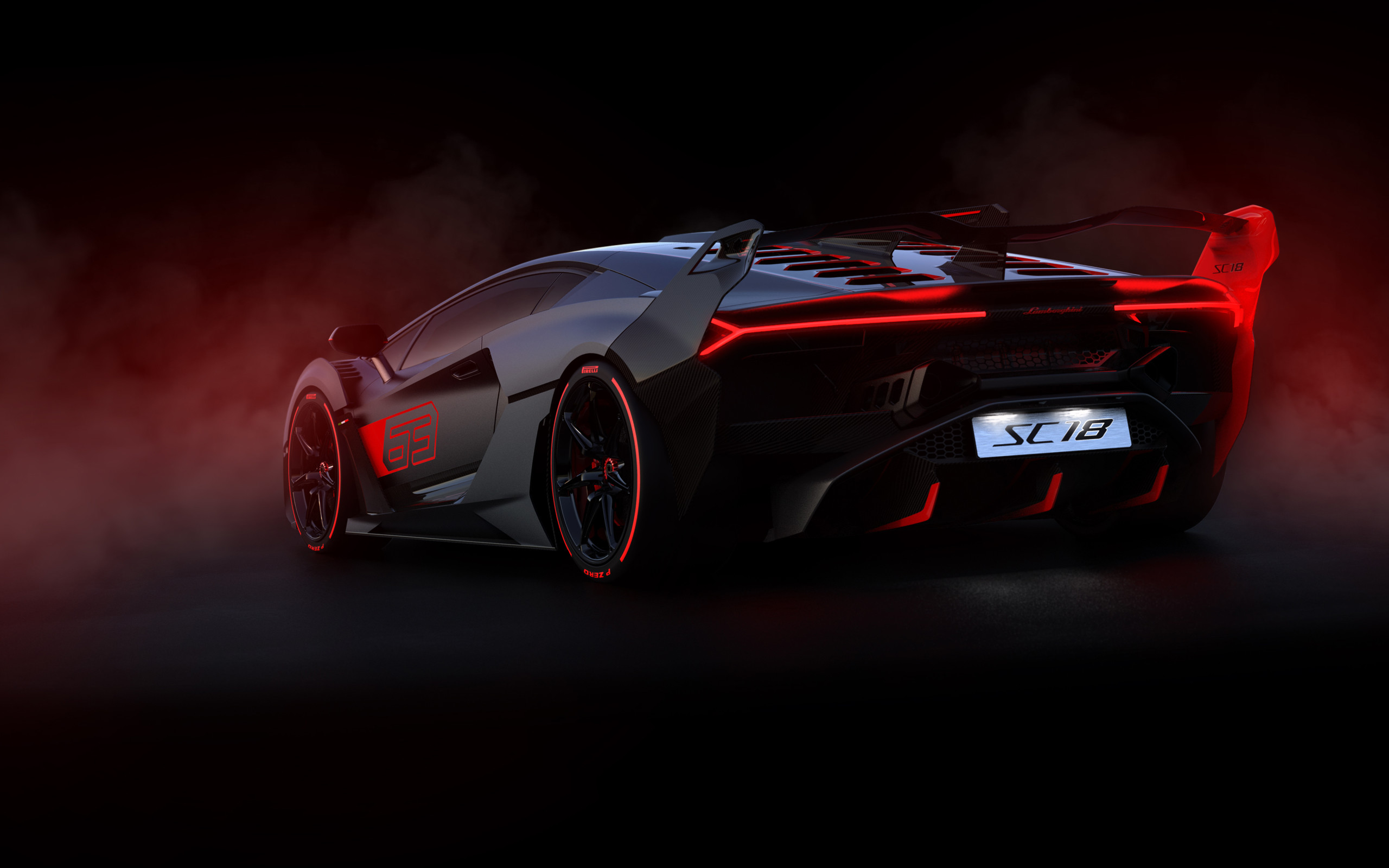 2560x1600 HD Wallpaper Vehicles, Car, Red, Black, Line, Lamborghini SC18