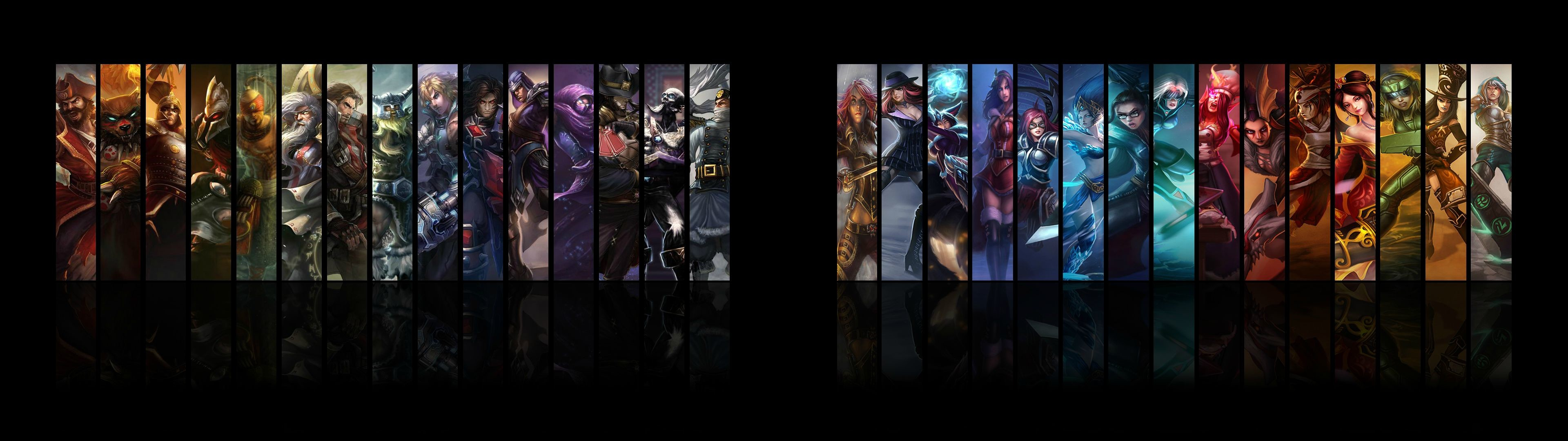 3840x1080 Dual Monitor Wallpaper League Of Legends