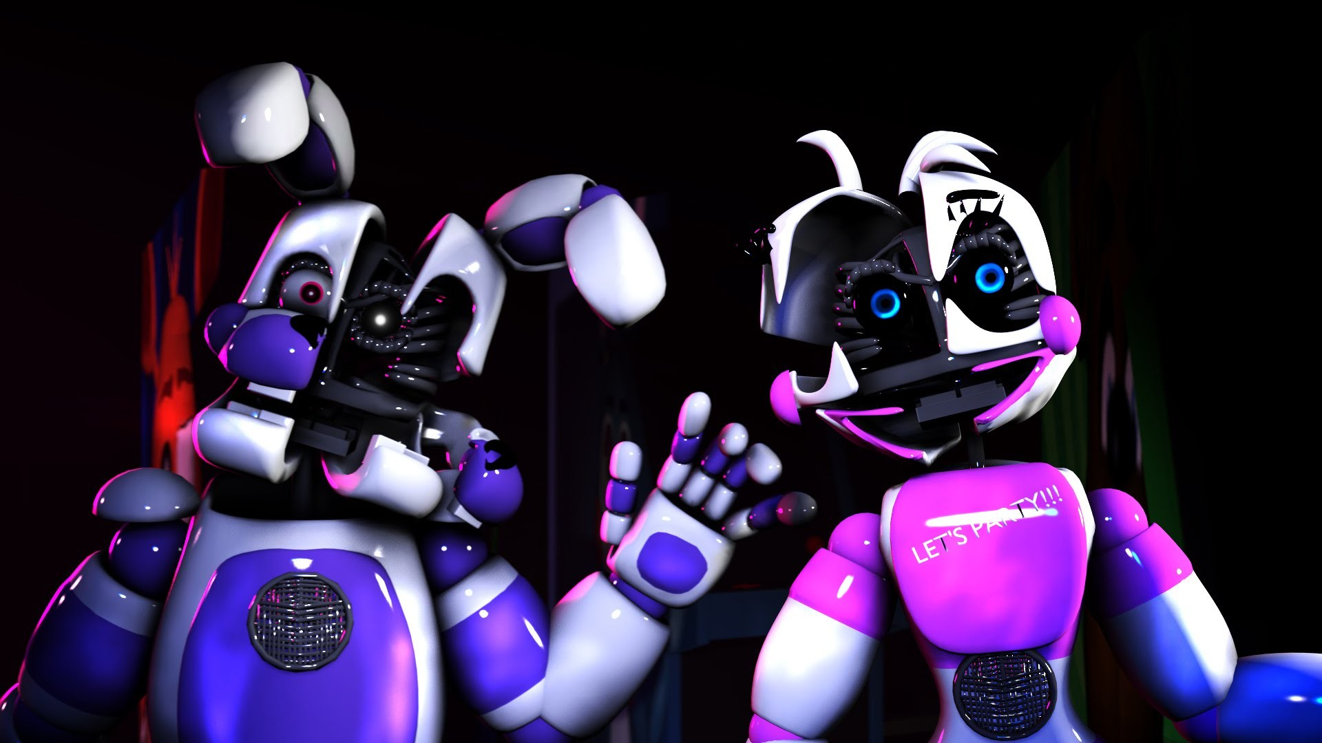 1920x1080 SFM FNAF SISTER LOCATION FUNTIME CHICA AND BONNIE HORROR MOVIE DEFECTIVE -  YouTube