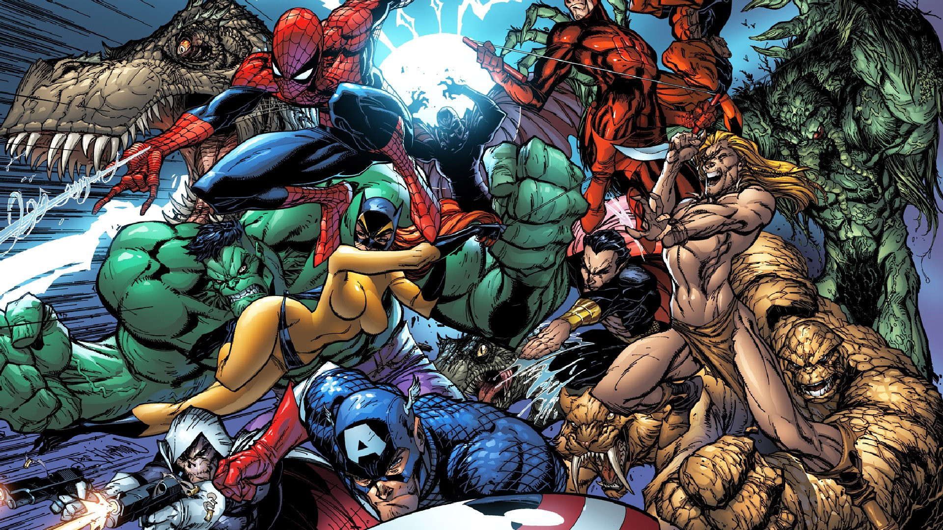 1920x1080 Marvel superheroes wallpaper #4879