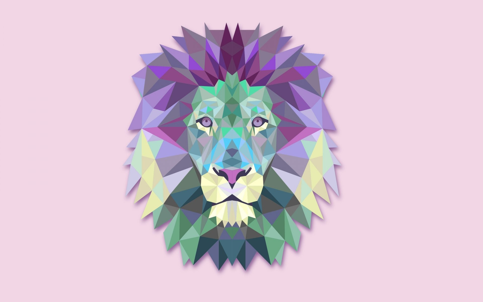 1920x1200 leo lion abstract minimalism light background