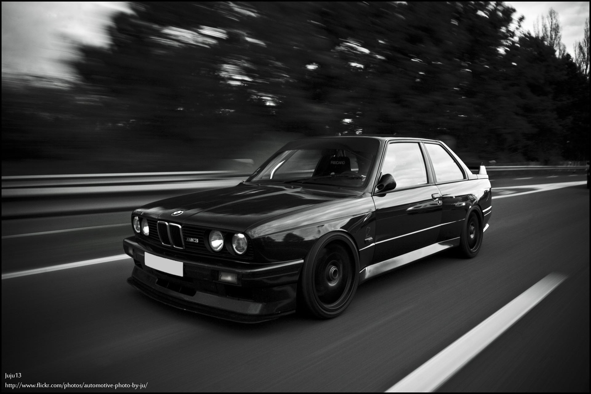 1920x1280 Bmw e30 m3 black and white wallpaper