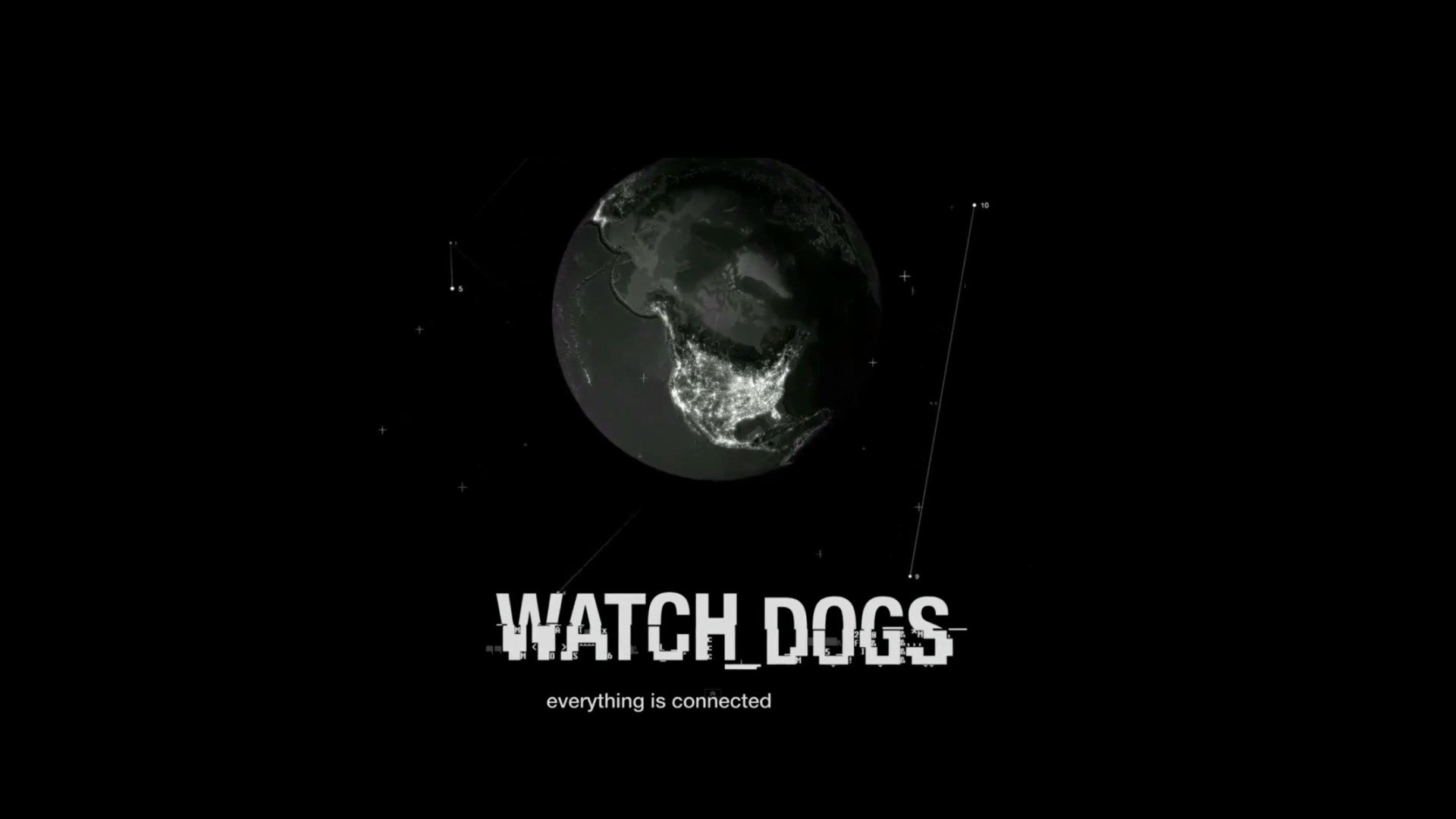 1920x1080 Free Download Watch Dogs Font Black Background HD Wallpaper Image
