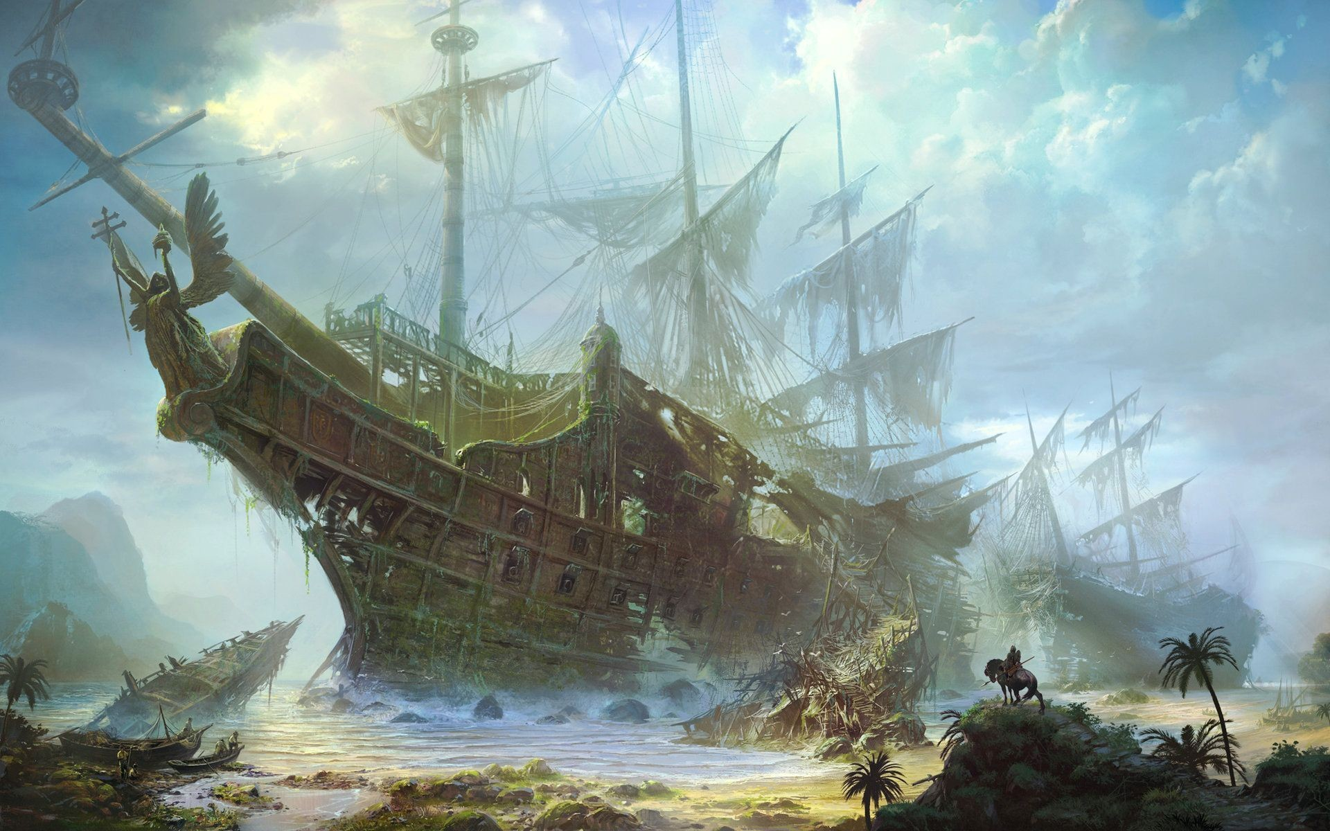 1920x1200 Pirate Ship And Map Wallpaper : Wallpapers13.com ...