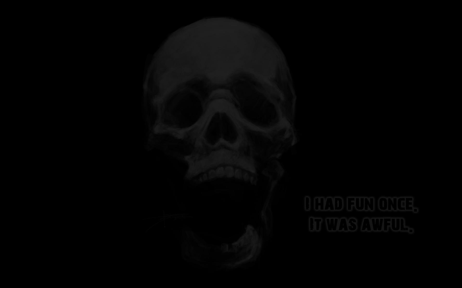 1920x1200 Dark Skull wallpaper