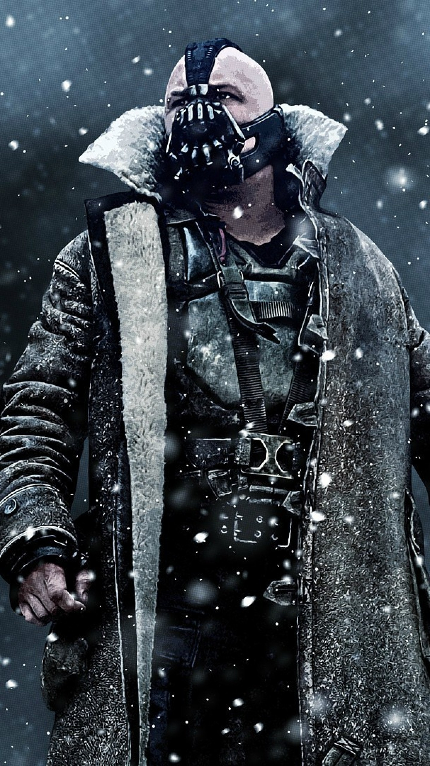 1440x2560 Preview wallpaper the dark knight rises, bane, art, mask