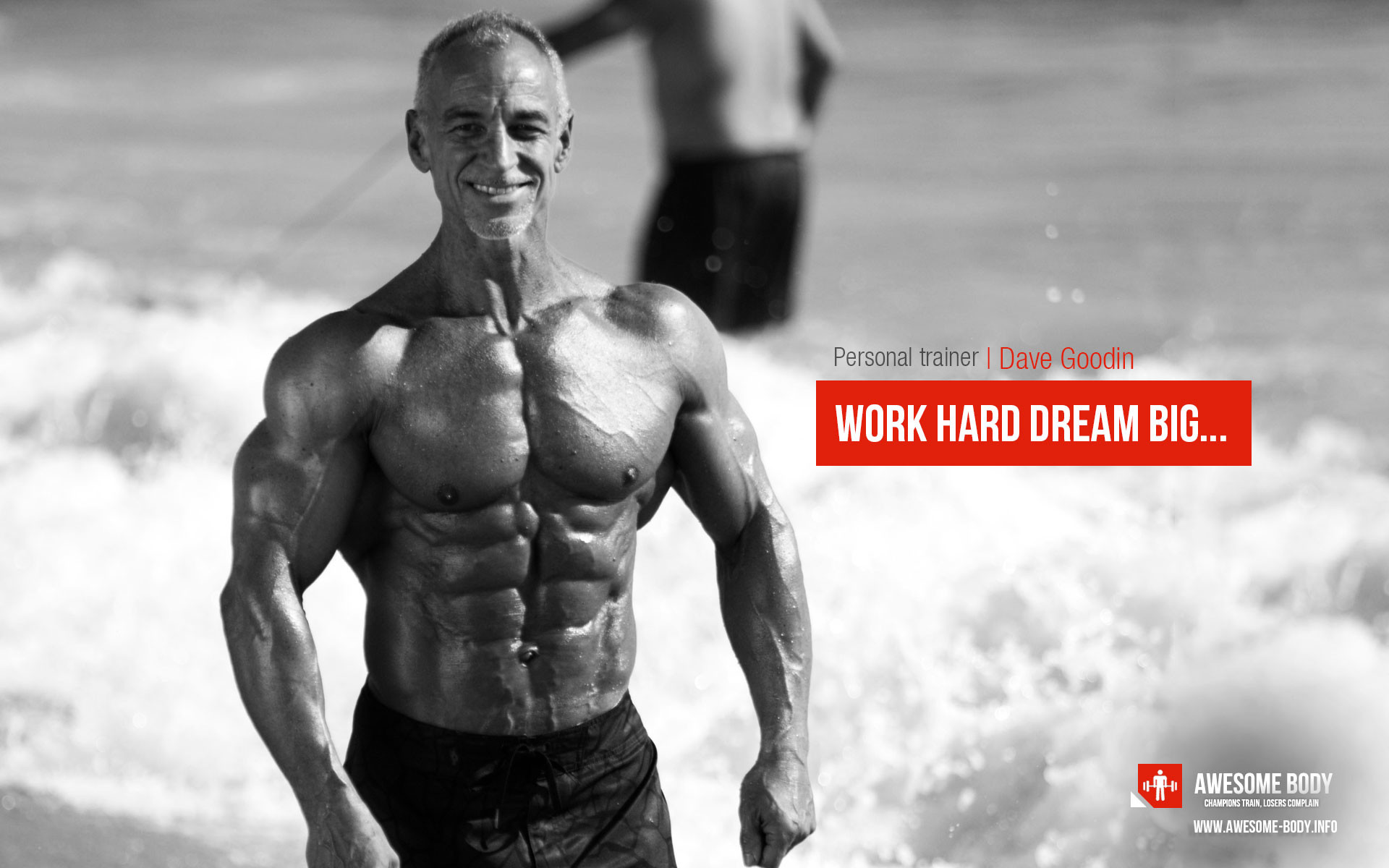 1920x1200 Dave Goodin | HD wallpapers. Personal trainer Dave Goodin quote: Work hard  dream big.