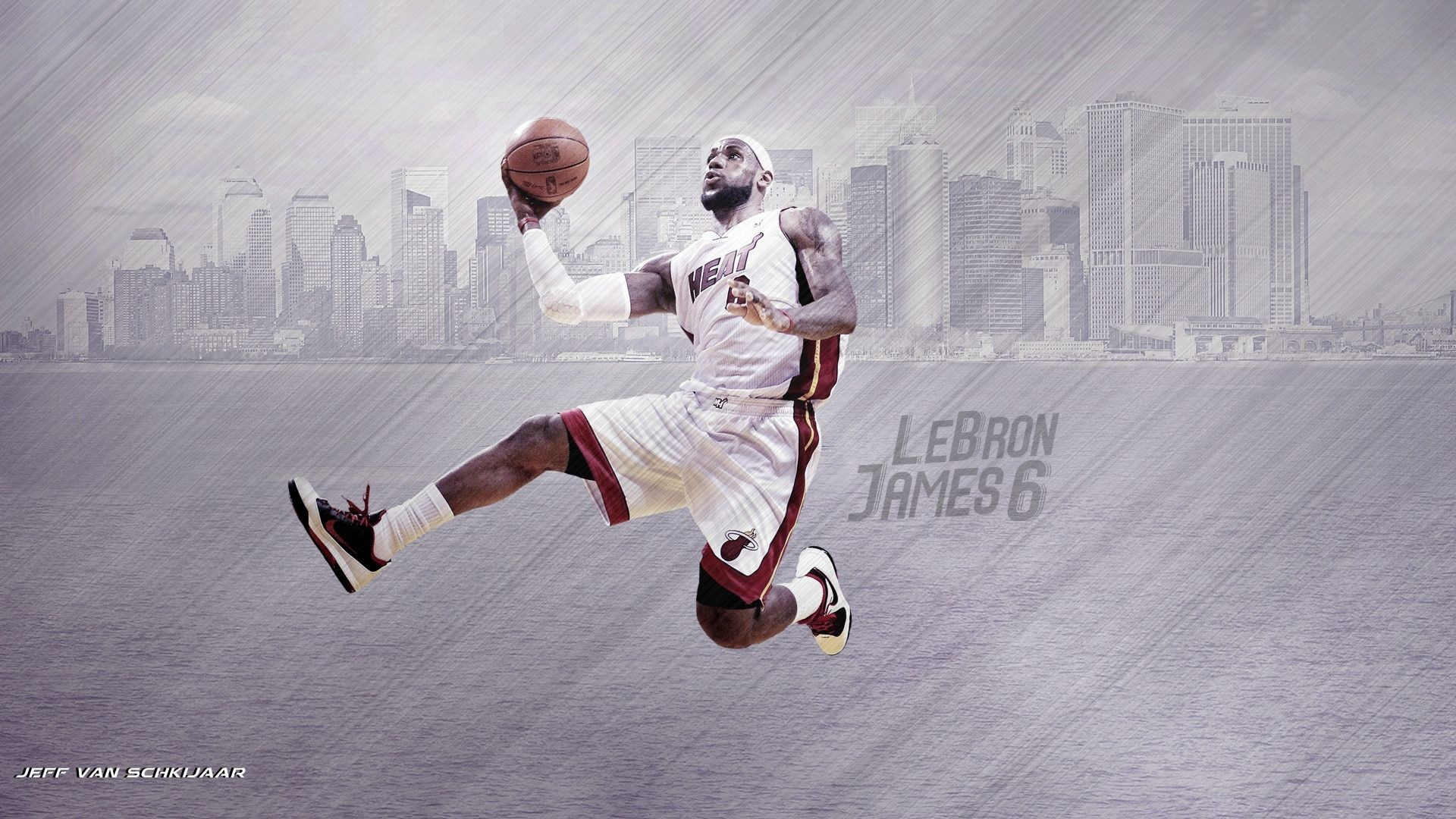 1920x1080 LeBron James Miami Heat Wallpaper 2014 by