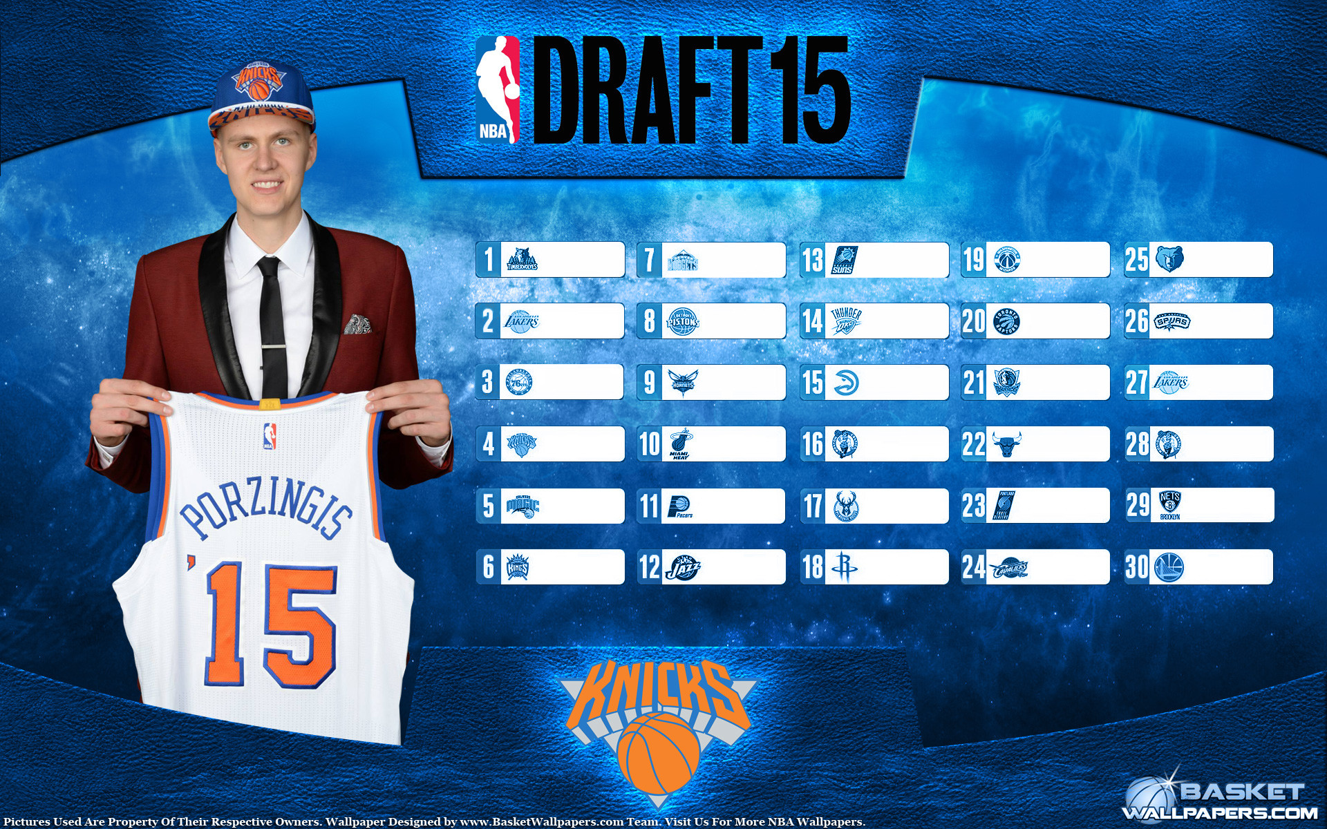 1920x1200 Kristaps Porzingis Knicks 2015 NBA Draft Wallpaper