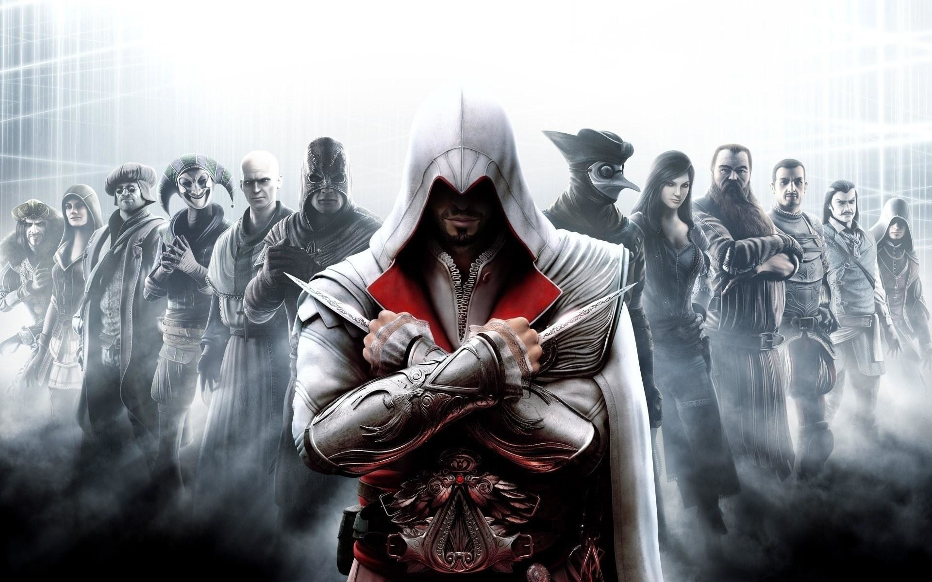 1920x1200 Assassins Creed Brotherhood All Characters Game Hd Wallpaper
