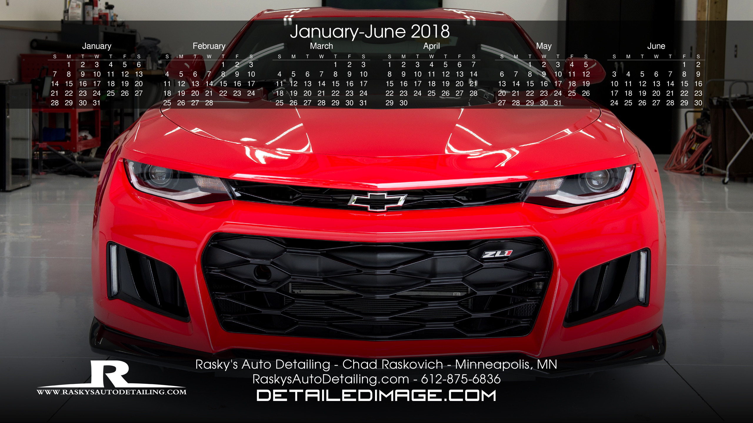 2560x1440 Chad Raskovich 2018 Wallpaper Calendar 1