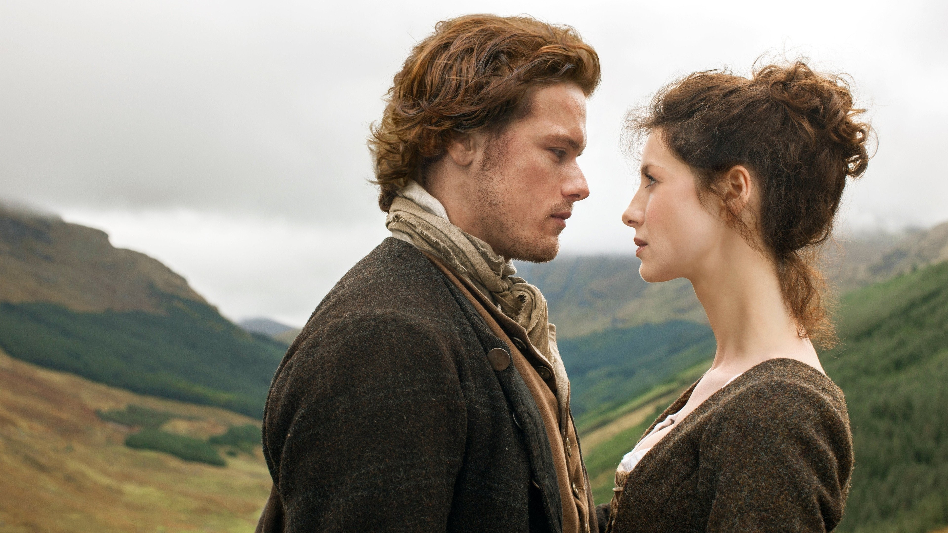 3840x2160 Outlander, TV, Caitriona Balfe, Sam Heughan HD Wallpapers / Desktop and  Mobile Images & Photos
