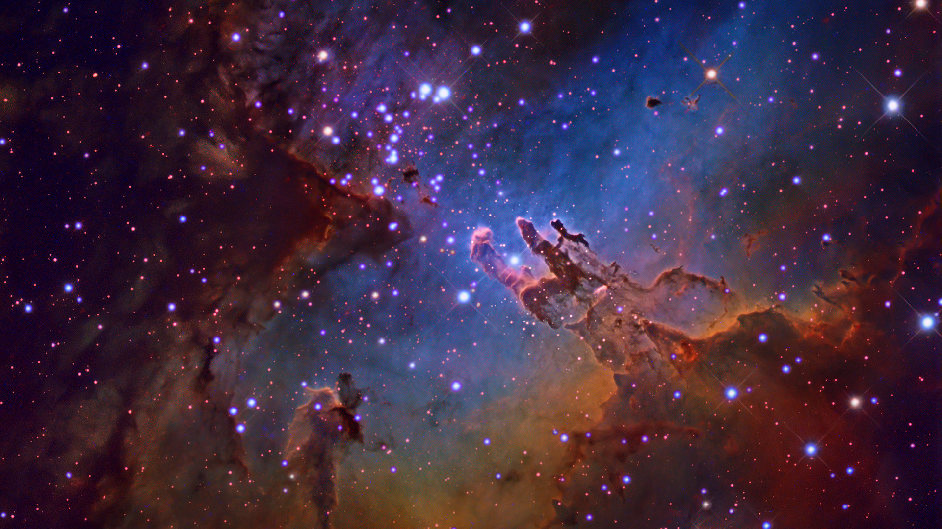 1920x1080 Purple And Blue Space Nebula Wallpaper
