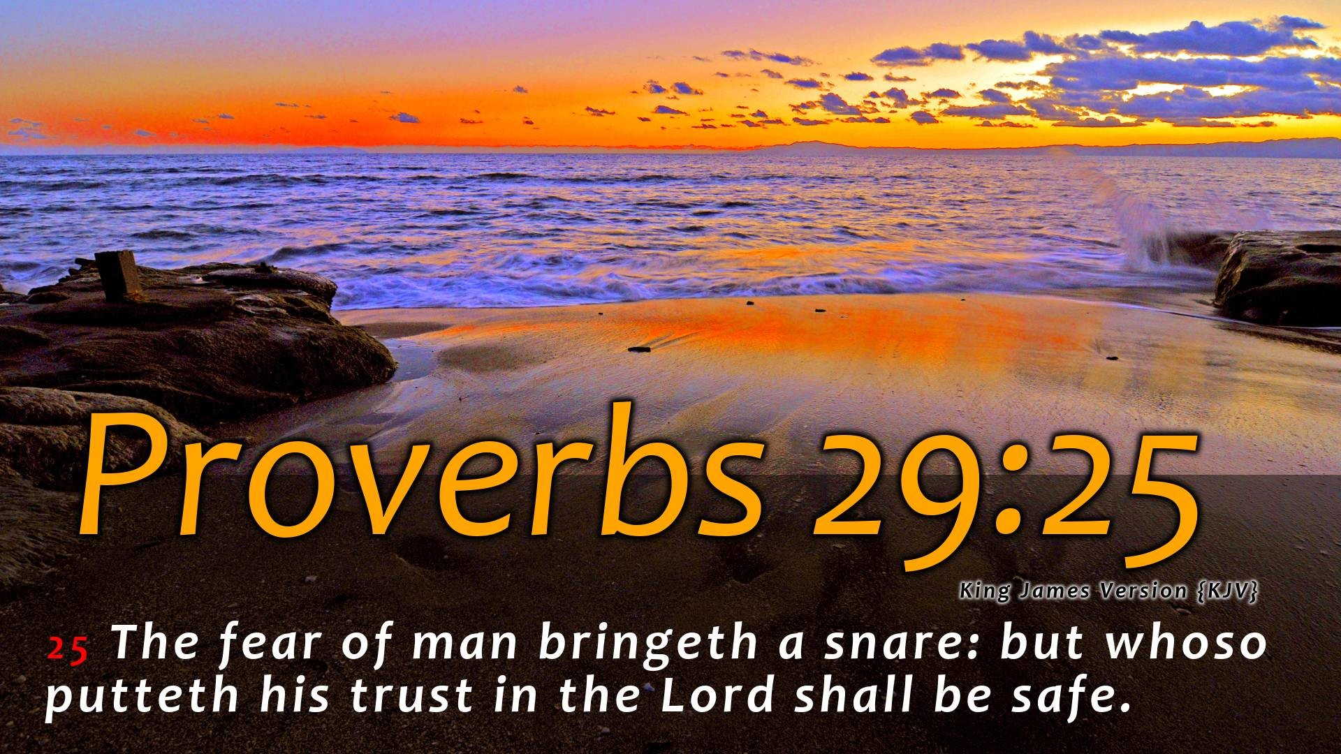1920x1080 Proverbs 29:25 Wallpaper #