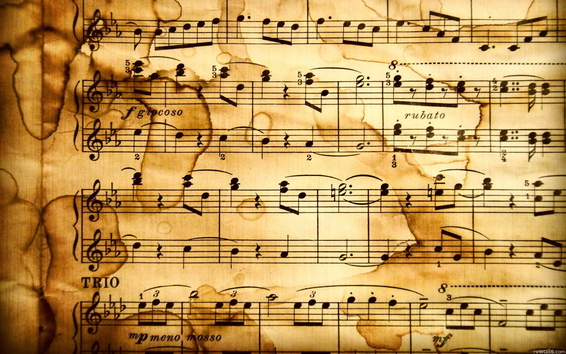 1920x1200 1195 Music Notes Wallpaper