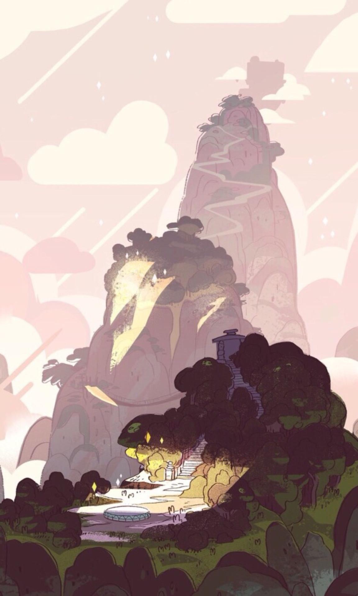 1152x1920 Cartoon Network Pink Backgrounds SU Aesthetic Phone Wallpaper Rebecca Sugar Steven Universe IPhone