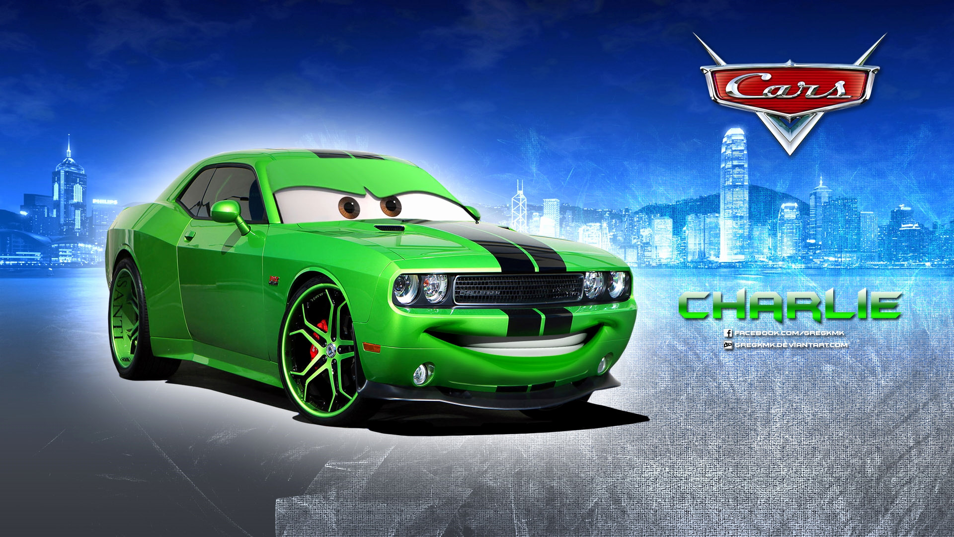 1920x1080 charlie dodge challenger disney pixar cars 1 2 free hd wallpaper