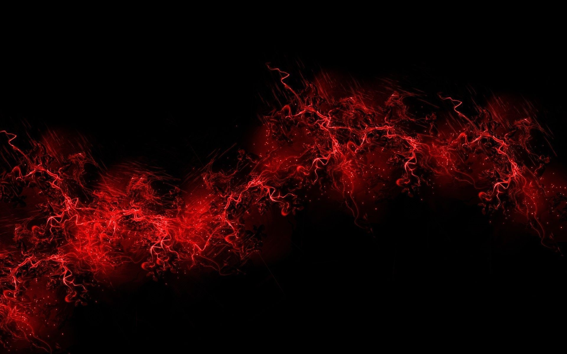 1920x1200 Red Lightning Background