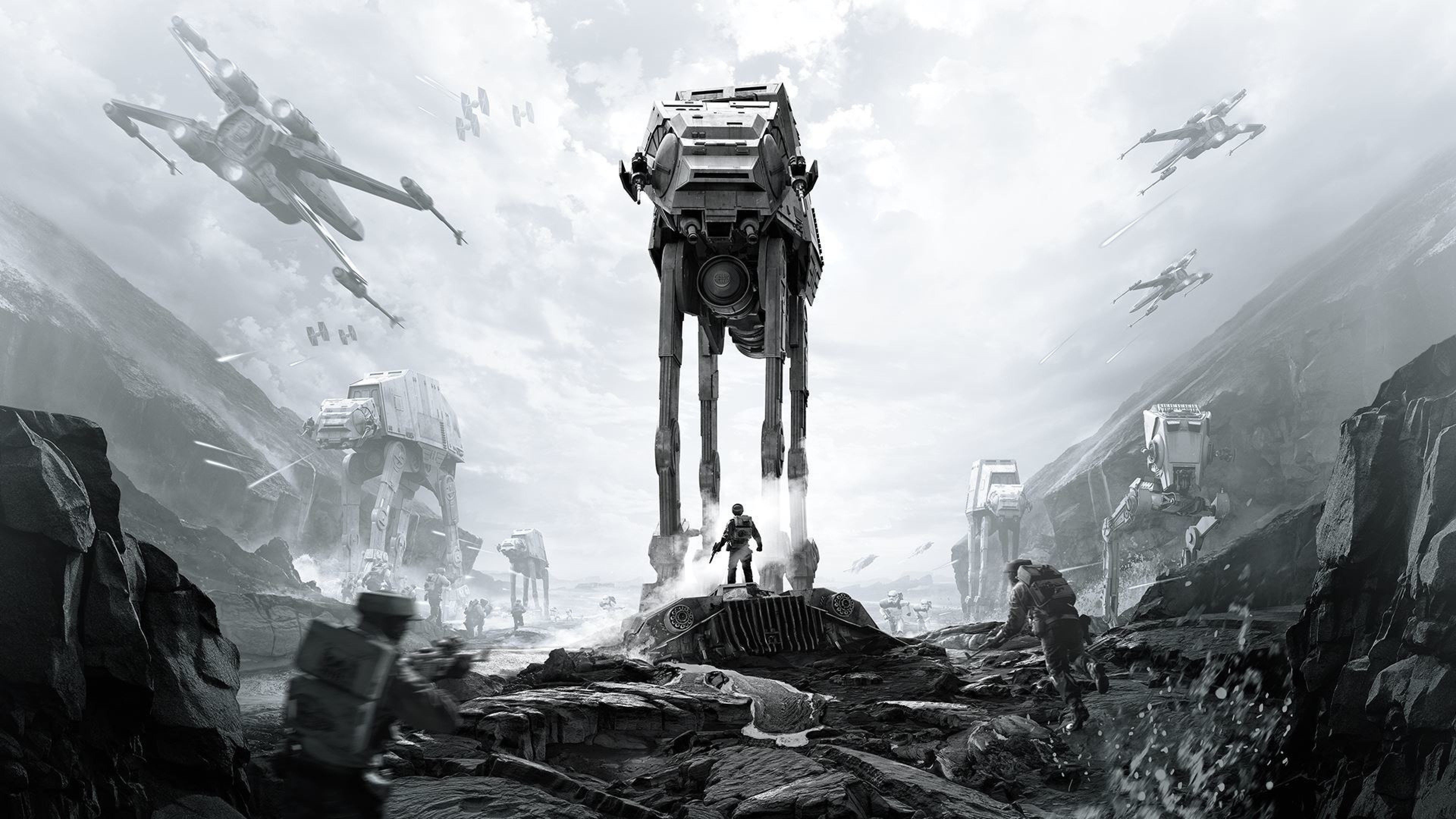 3840x2160  Wallpaper star wars battlefront, ea dice, art
