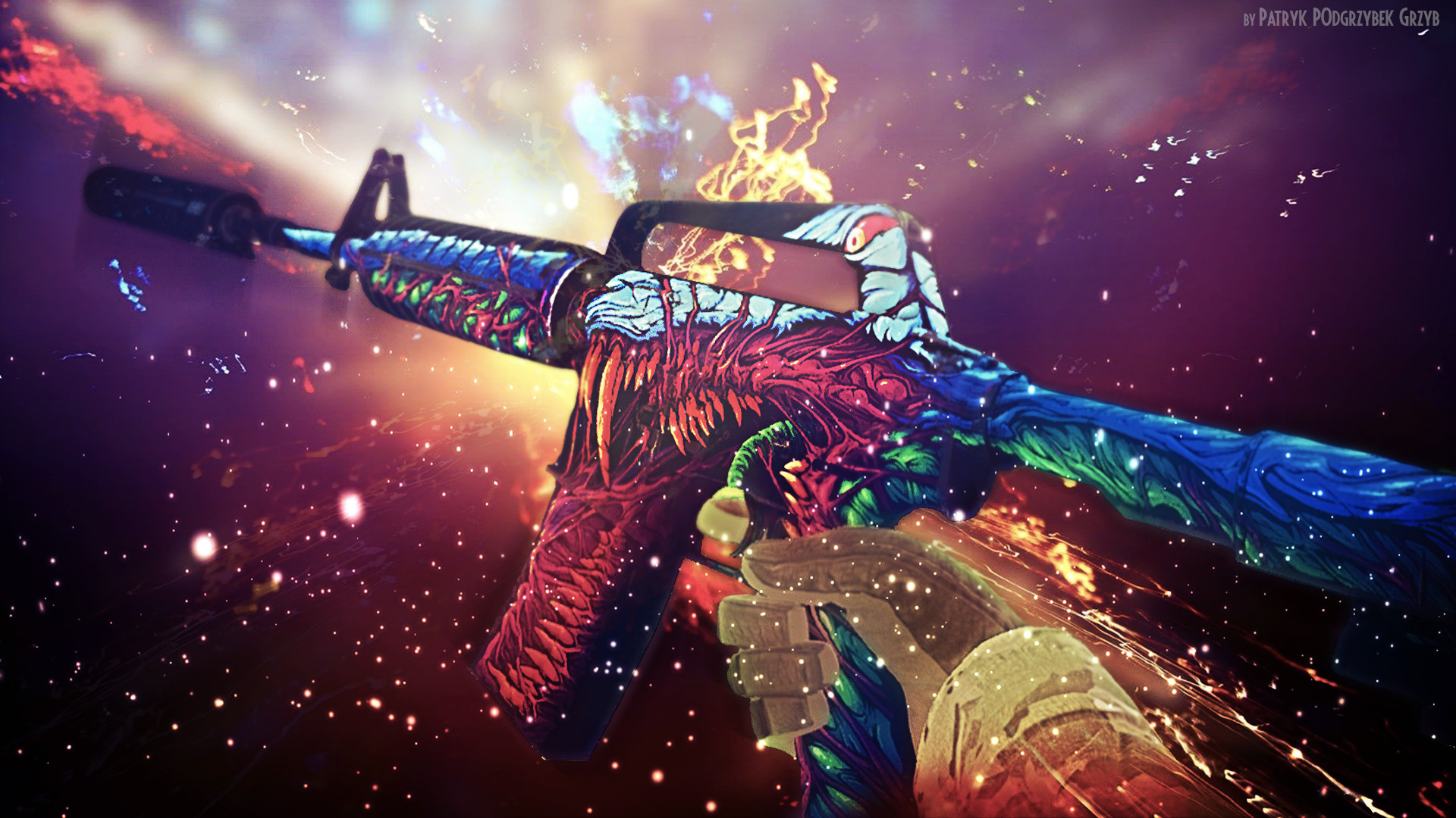 1920x1080 Steam Community :: :: m4a1-s | Hyper Beast - Wallpaper by Patryk .
