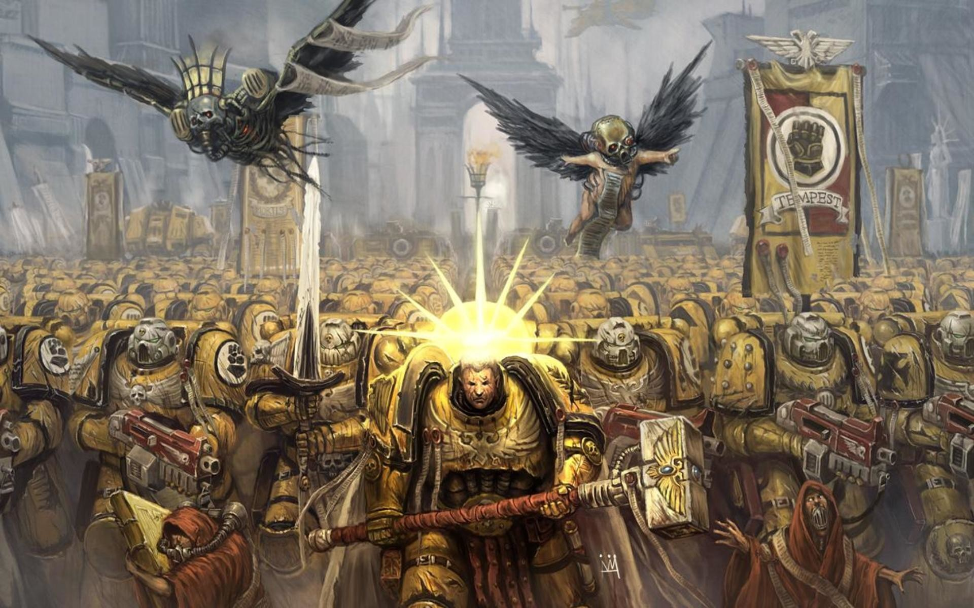 1920x1200 Imperial Fists, Warhammer 40k - Wallpapers – yoyowall.