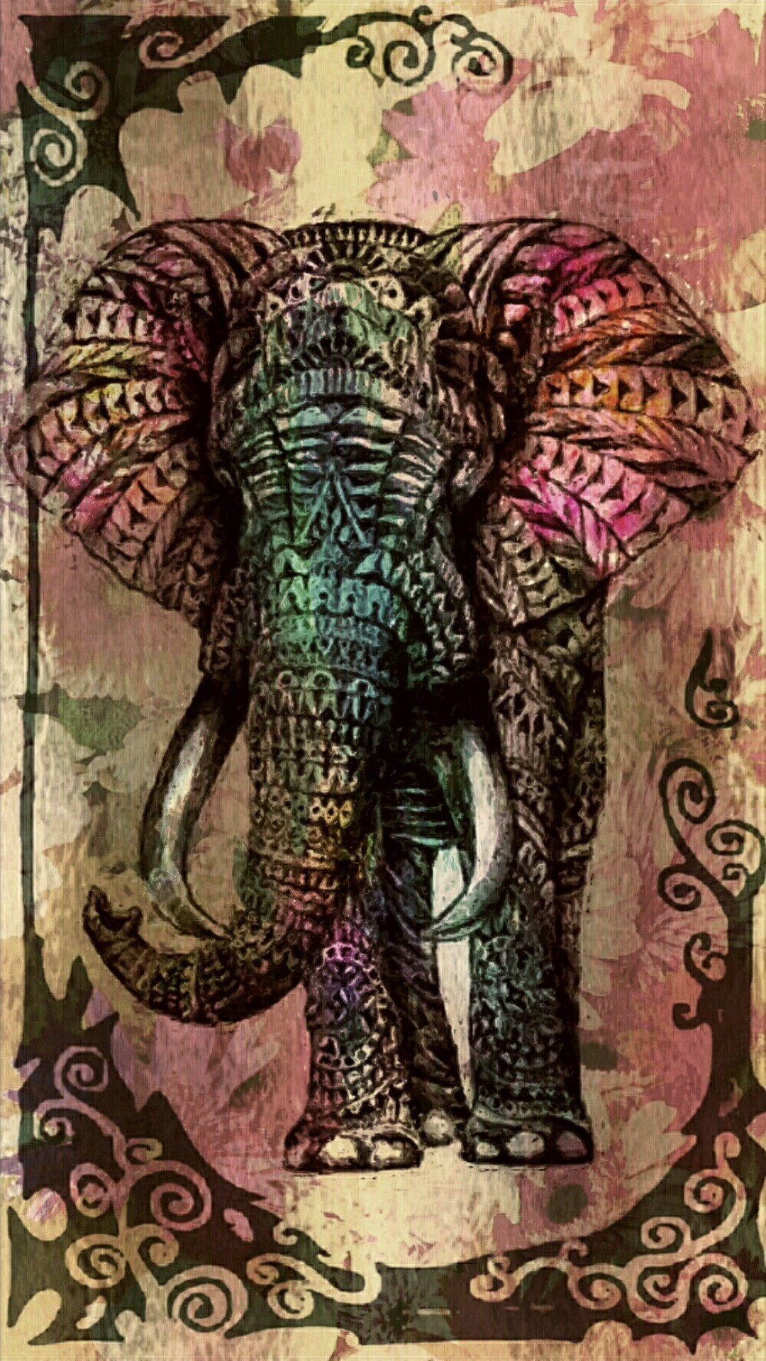 1080x1920 Customize your iPhone 6 Plus with this high definition Tribal Elephant  wallpaper from HD Phone Wallpapers!