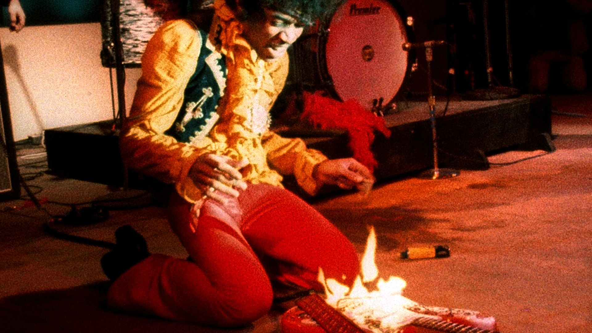 1920x1080 Jimi Hendrix setting his guitar on fire at the Monterey Pop Music Festival  in 1967 [] ...