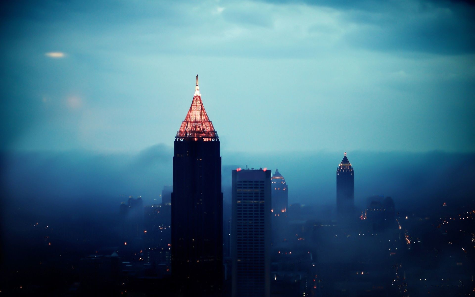 1920x1200 Foggy Atlanta HD Widescreen Wallpapers | HD Wallpapers Source