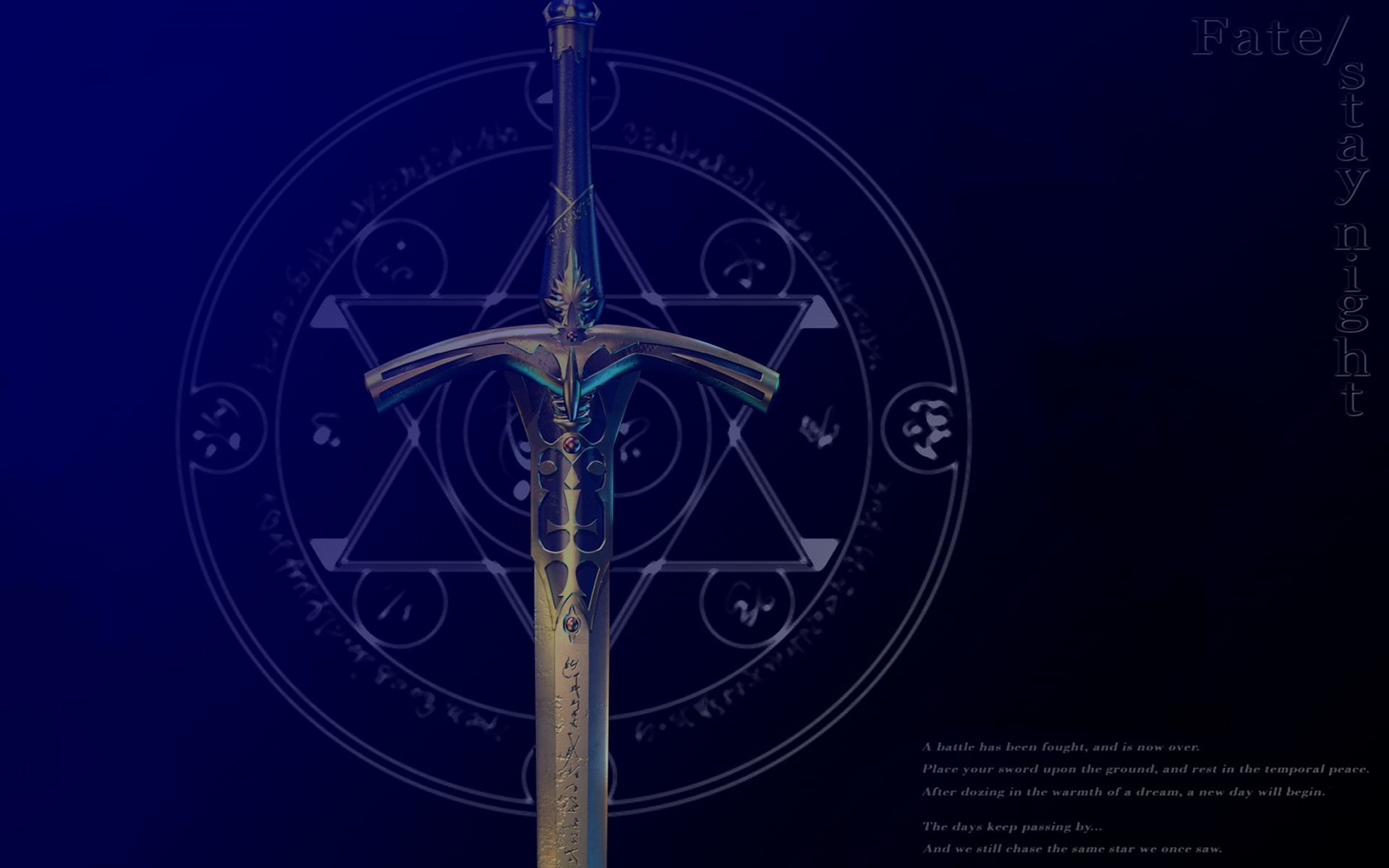 1920x1200 Fatestay night excalibur swords fate series wallpaper |  | 19310 |  WallpaperUP