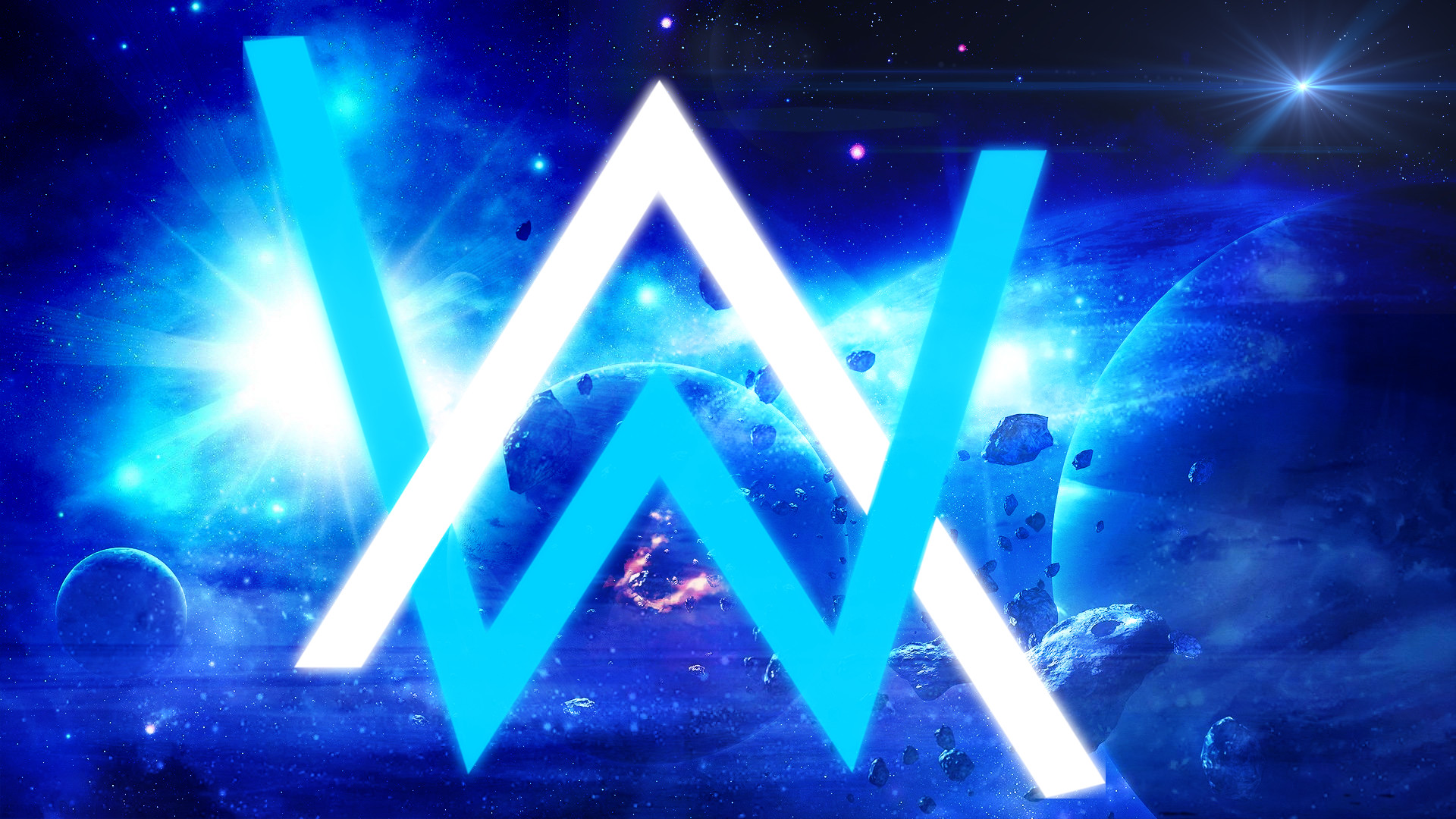 Alan walker wallpapers 73 images - Alan walker logo galaxy ...