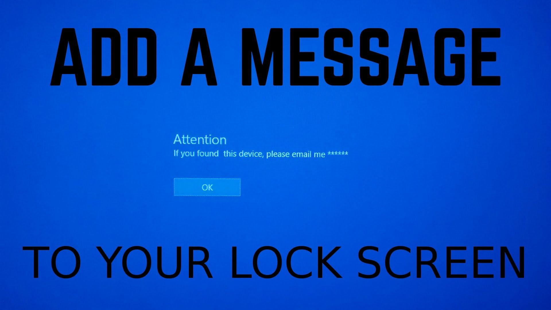 how to set lock screen windows 10