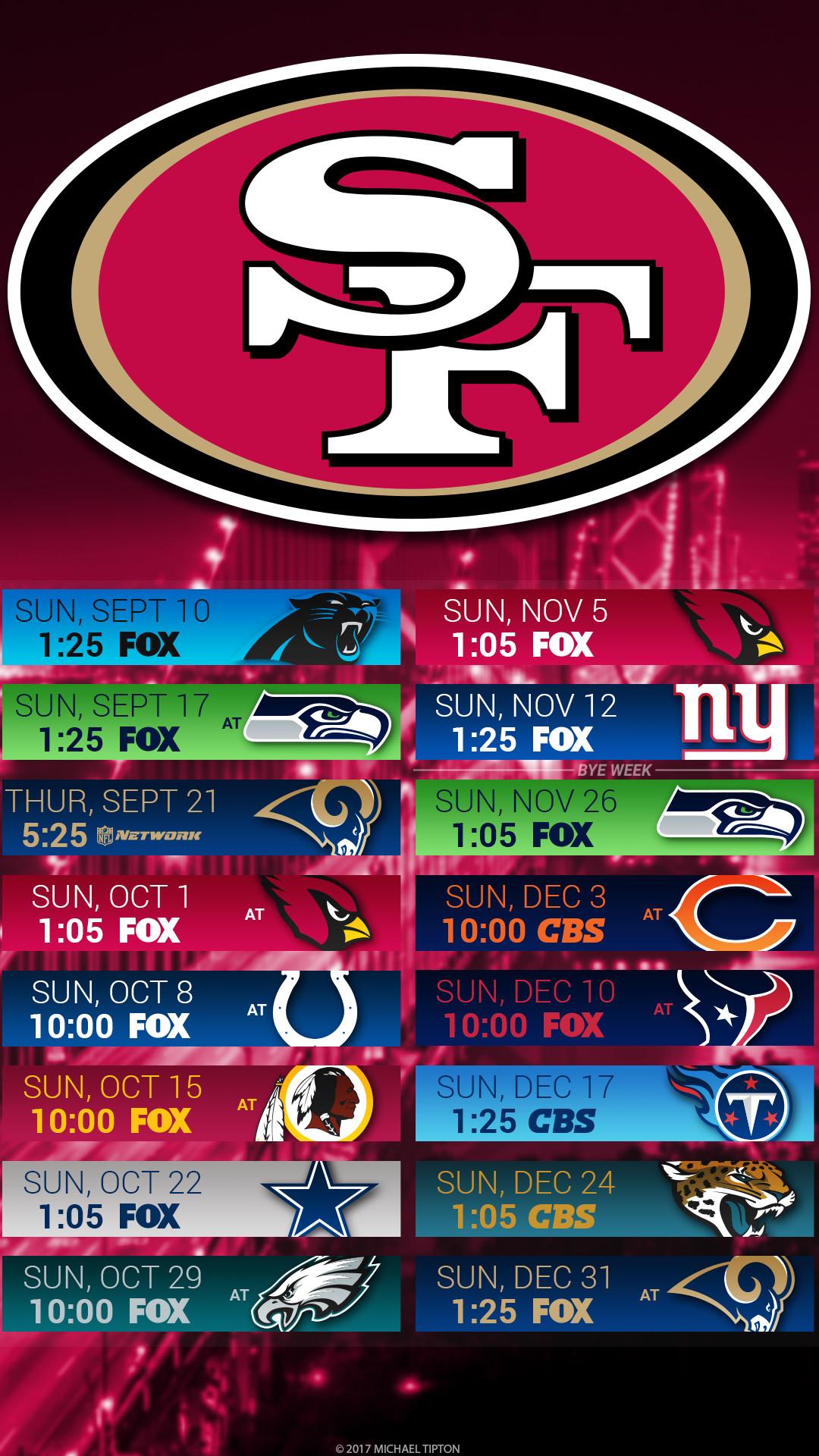 49ers 2018 Schedule Wallpaper (60+ images)