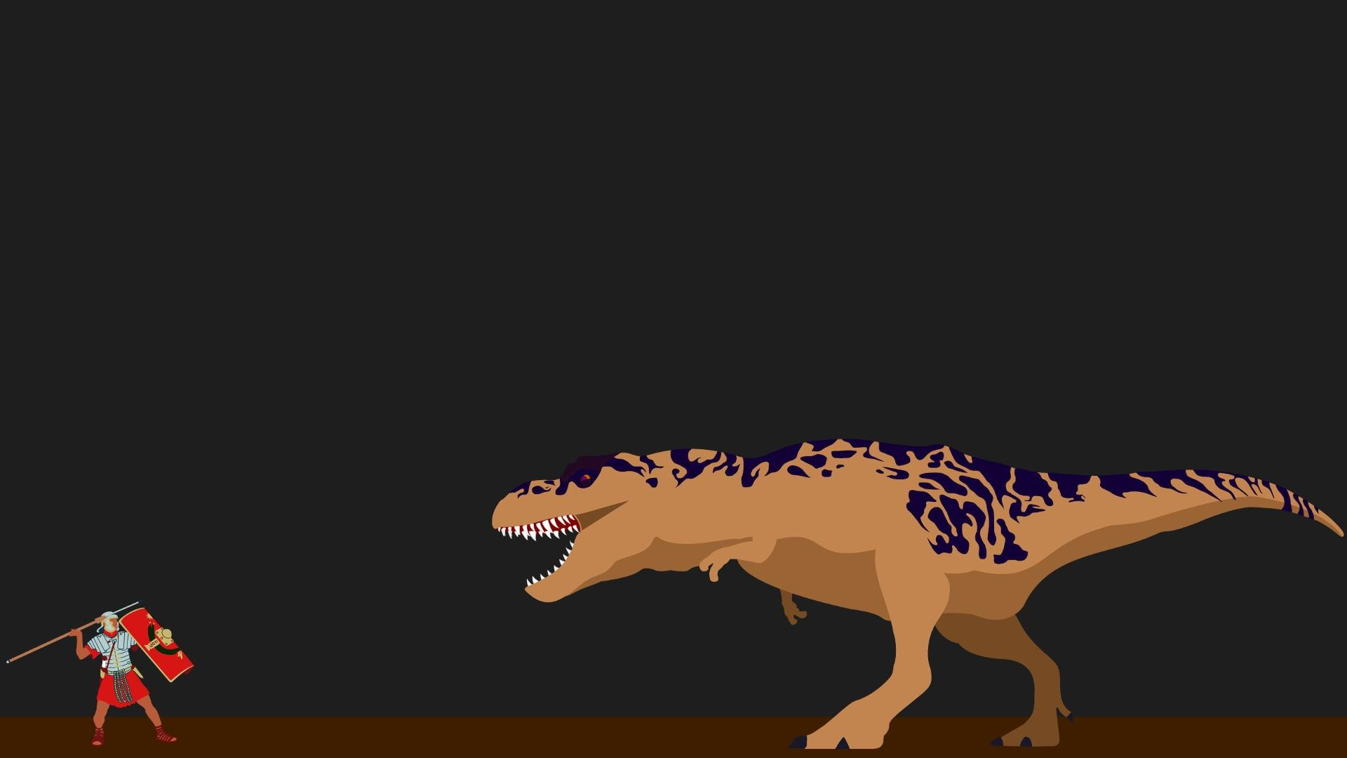 1920x1080 Simplistic Roman Vs T-Rex (OC) [1920 x 1080] Higher Resolution