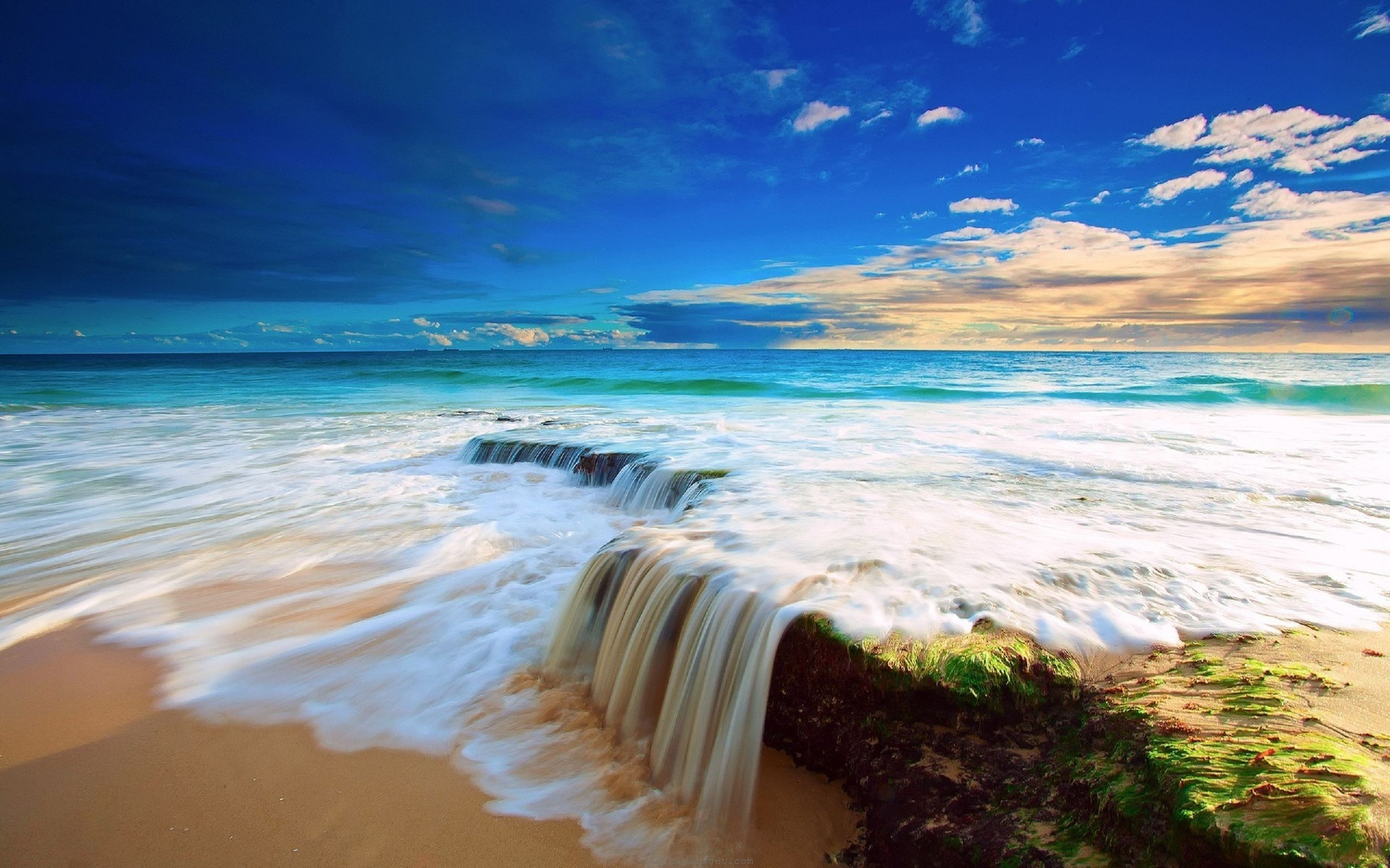 2560x1600 Beautiful Beach Ocean Water HD Wallpaper Download awesome, Nice and High  Quality #HD #