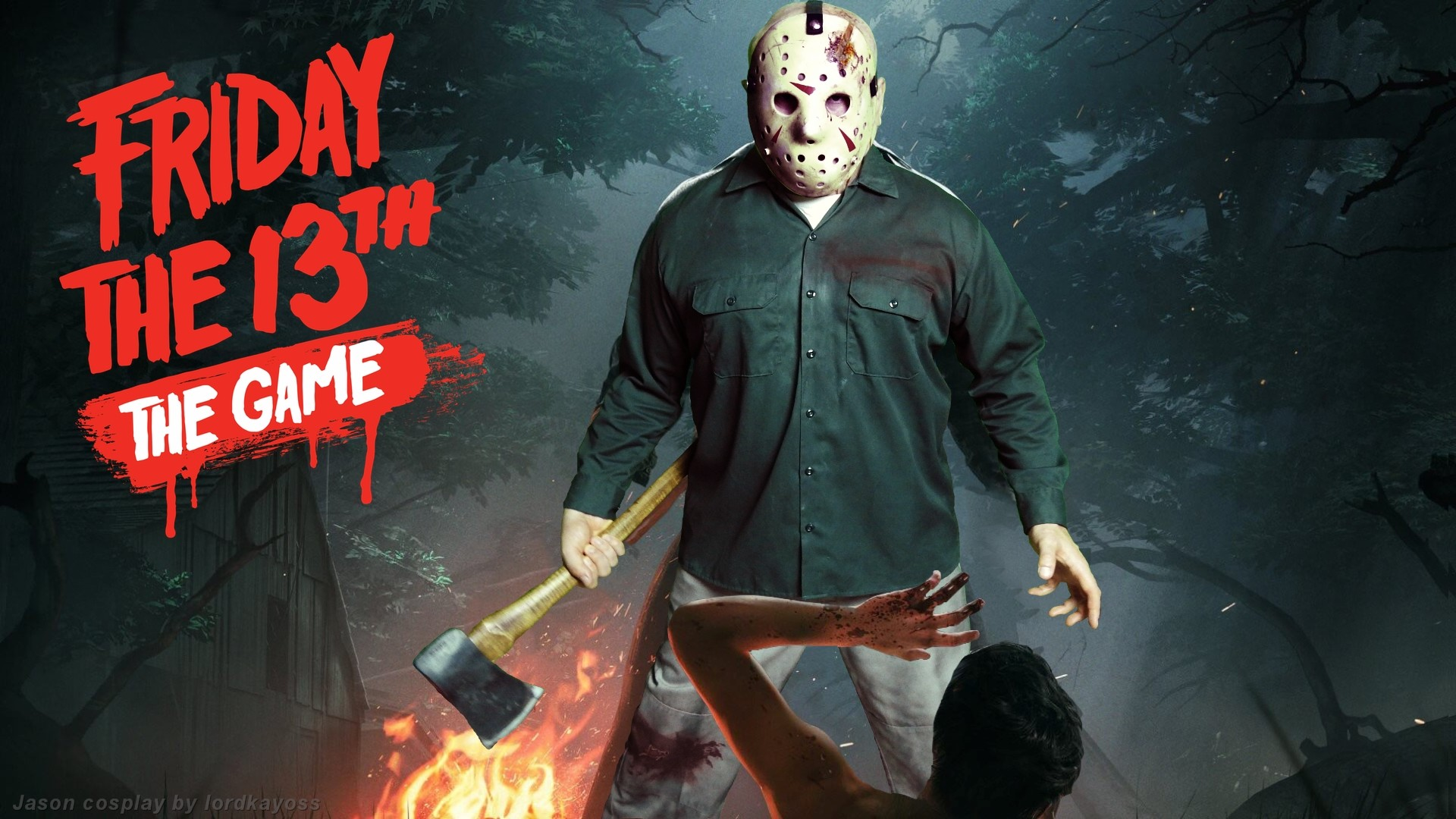 1920x1080 Played around with the main image from the upcoming Friday the 13th The  Game. Matched Jason Voorhees' main pose with my Jason IV costume and  shopped it into ...