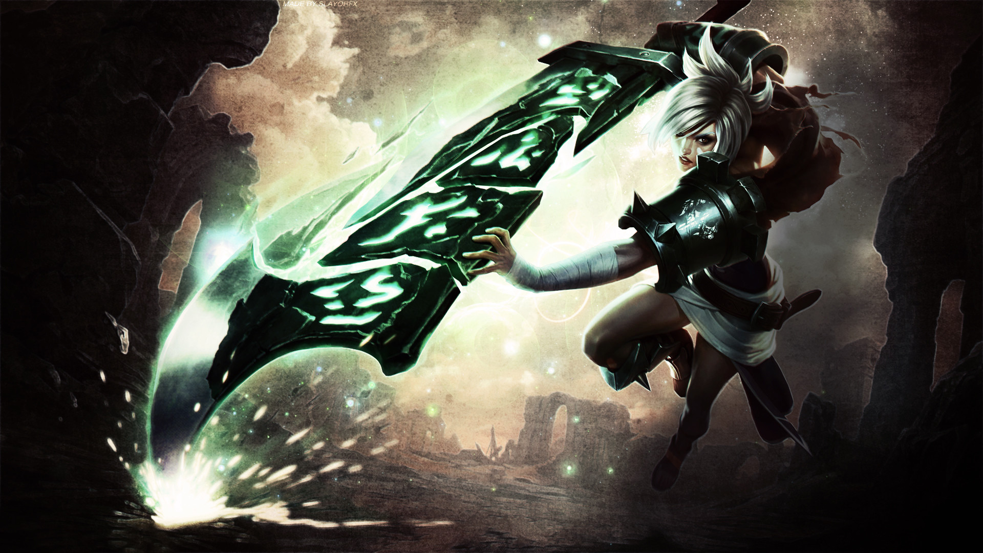 1920x1080 League Of Legends Riven Wallpaper Desktop