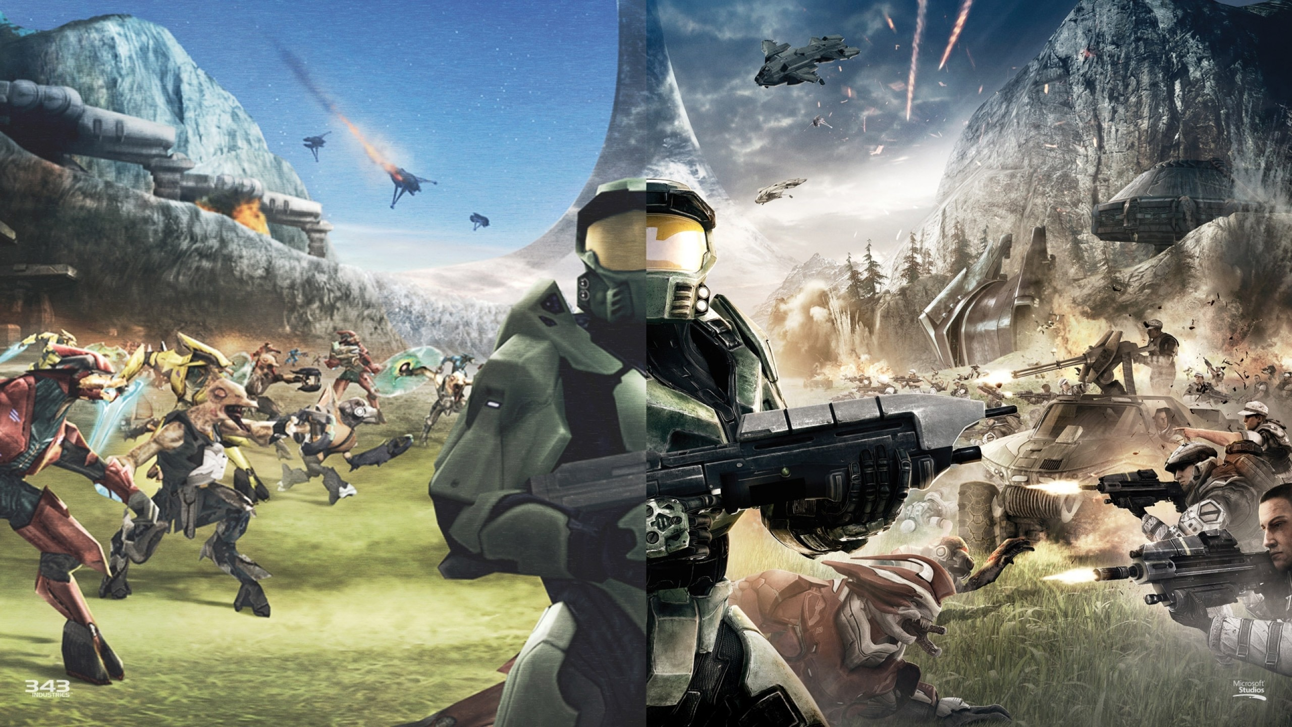 2560x1440 Halo CE Anniversary Comparison