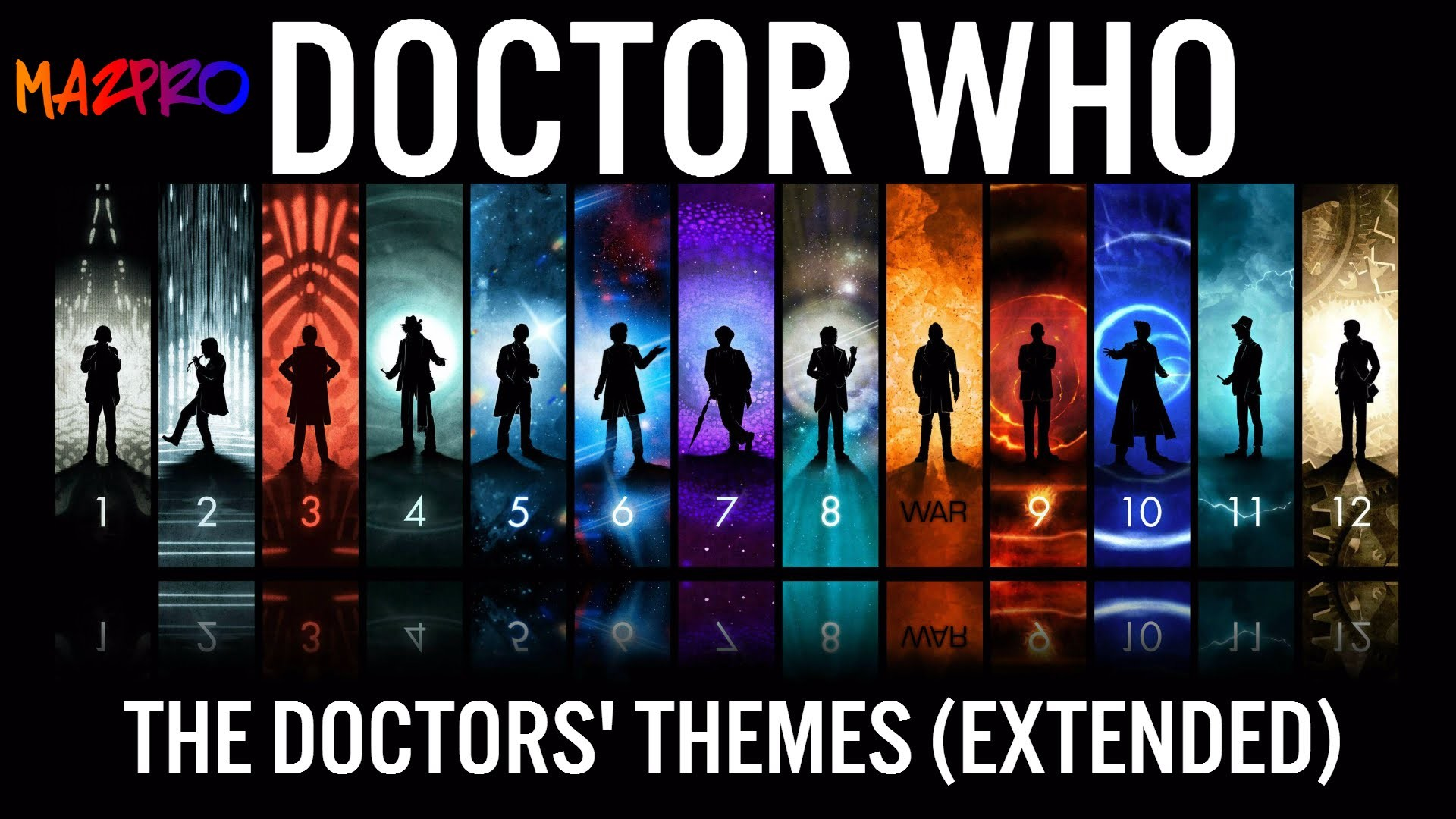 1920x1080 Doctor Who: The Doctor's Themes: 2,3,4,7,8,9,10,11,12, War (EXTENDED) -  YouTube