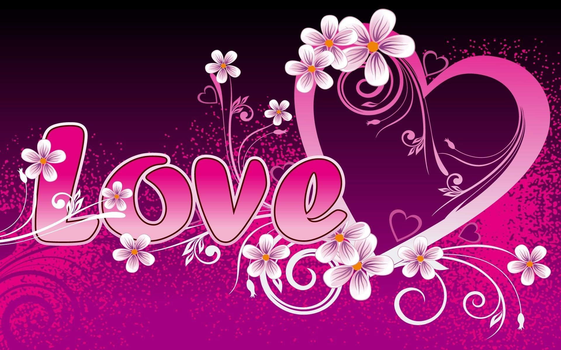 1920x1200 Wallpapers Backgrounds - Pink Love Heart Wallpaper Resolution