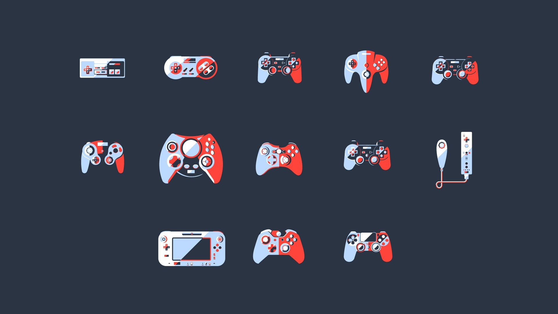 1920x1080 General  video games controllers simple background PlayStation  Xbox Nintendo Entertainment System minimalism
