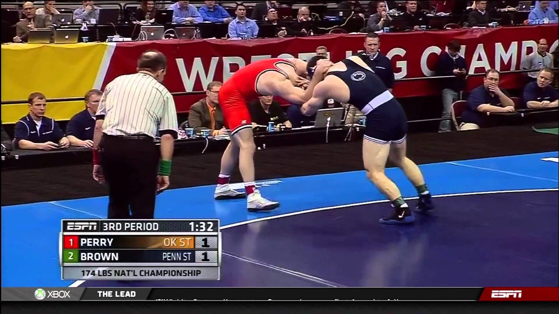 1920x1080 2013 NCAA Wrestling National Championships D1 Chris Perry (OSU) vs Matt  Brown (PSU) - YouTube