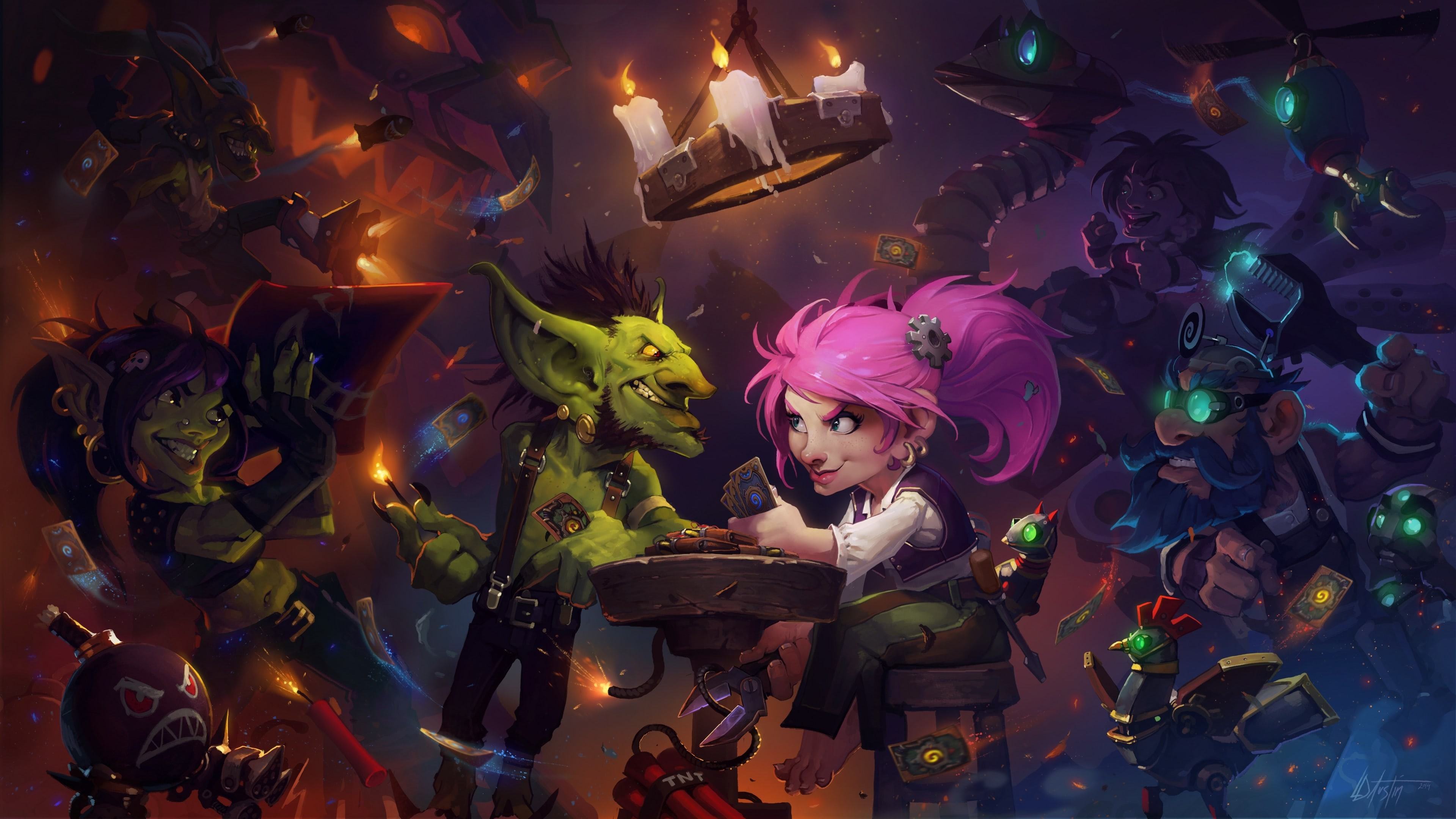 3840x2160 Wallpaper Hearthstone heroes warcraft game ccg dwarf troll goblin #894  CoolWallpapers.site