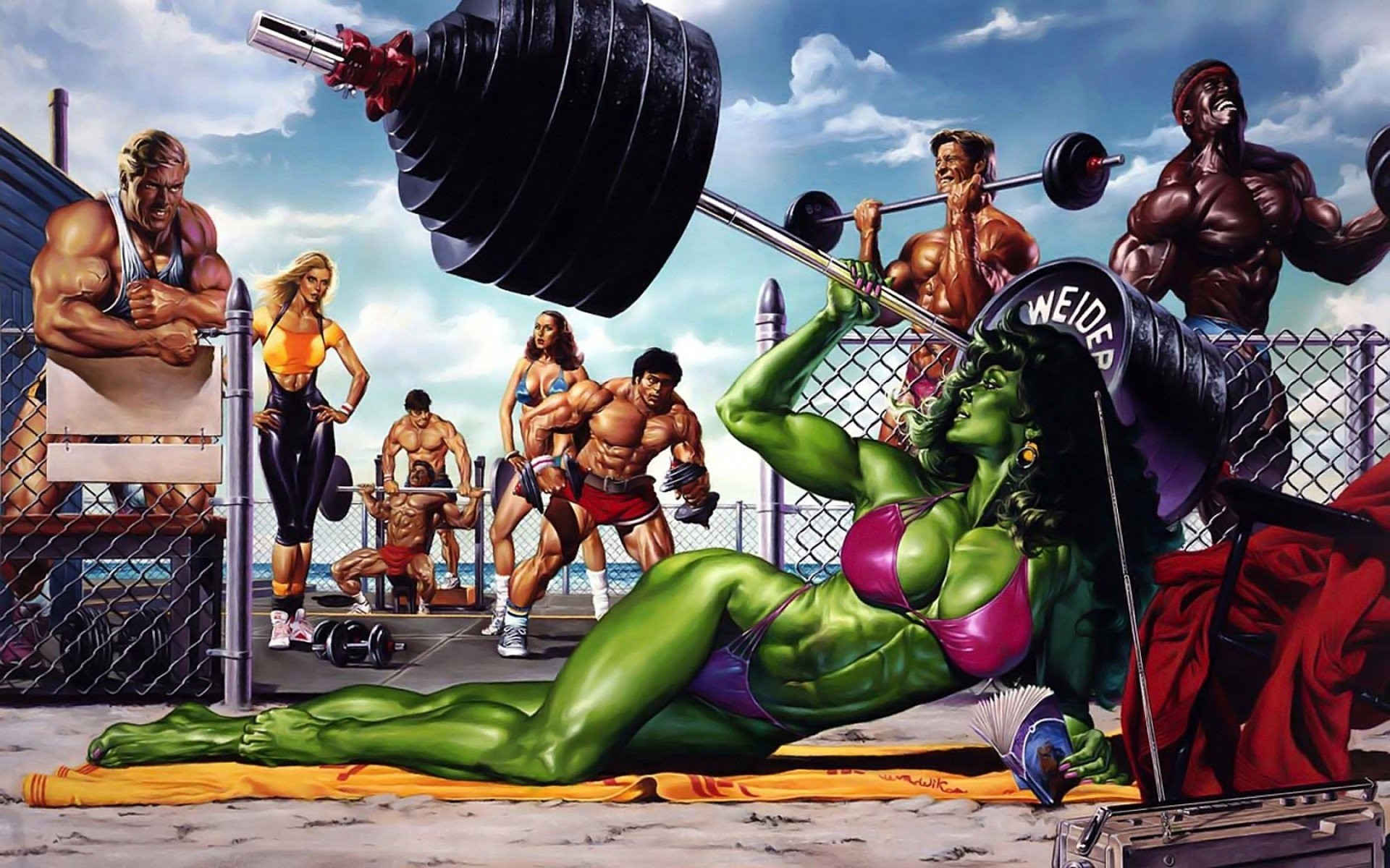 1920x1200 She-Hulk images She-Hulk - Bikini Weight Lifting HD wallpaper and  background photos