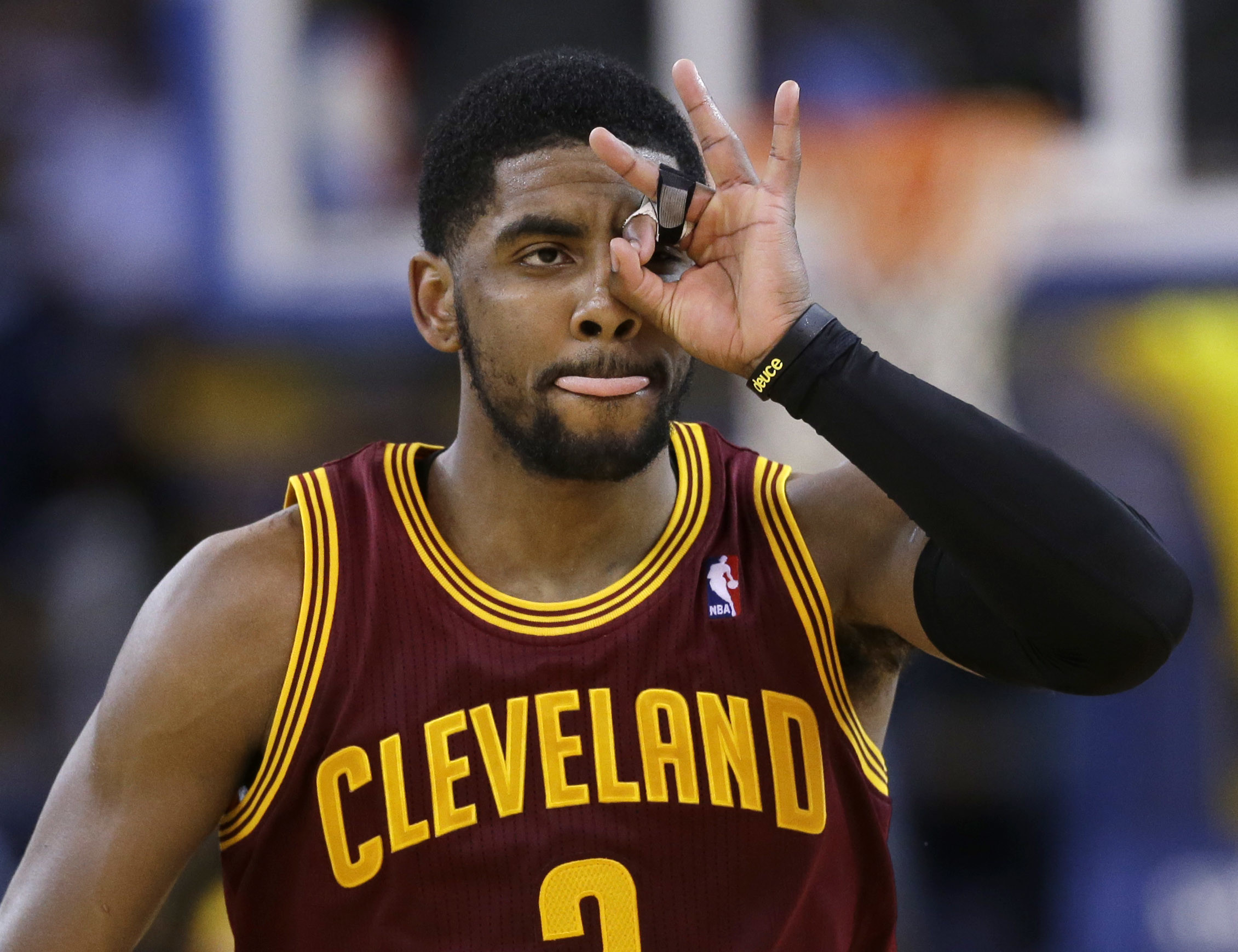 2261x1739 Cleveland Cavaliers guard Kyrie Irving celebrates after making a 3-point  basket against the Golden State Warriors during the second half of an NBA …
